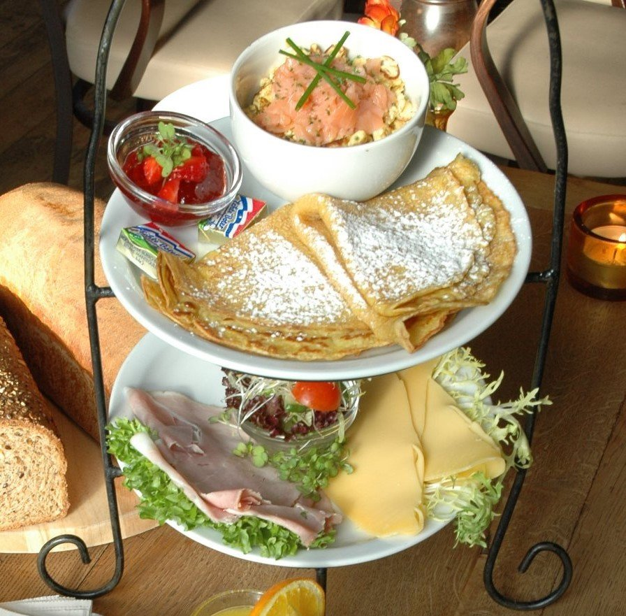 Dutch pancakes and other treats at Stads-Koffyhuis in Delft, the Netherlands