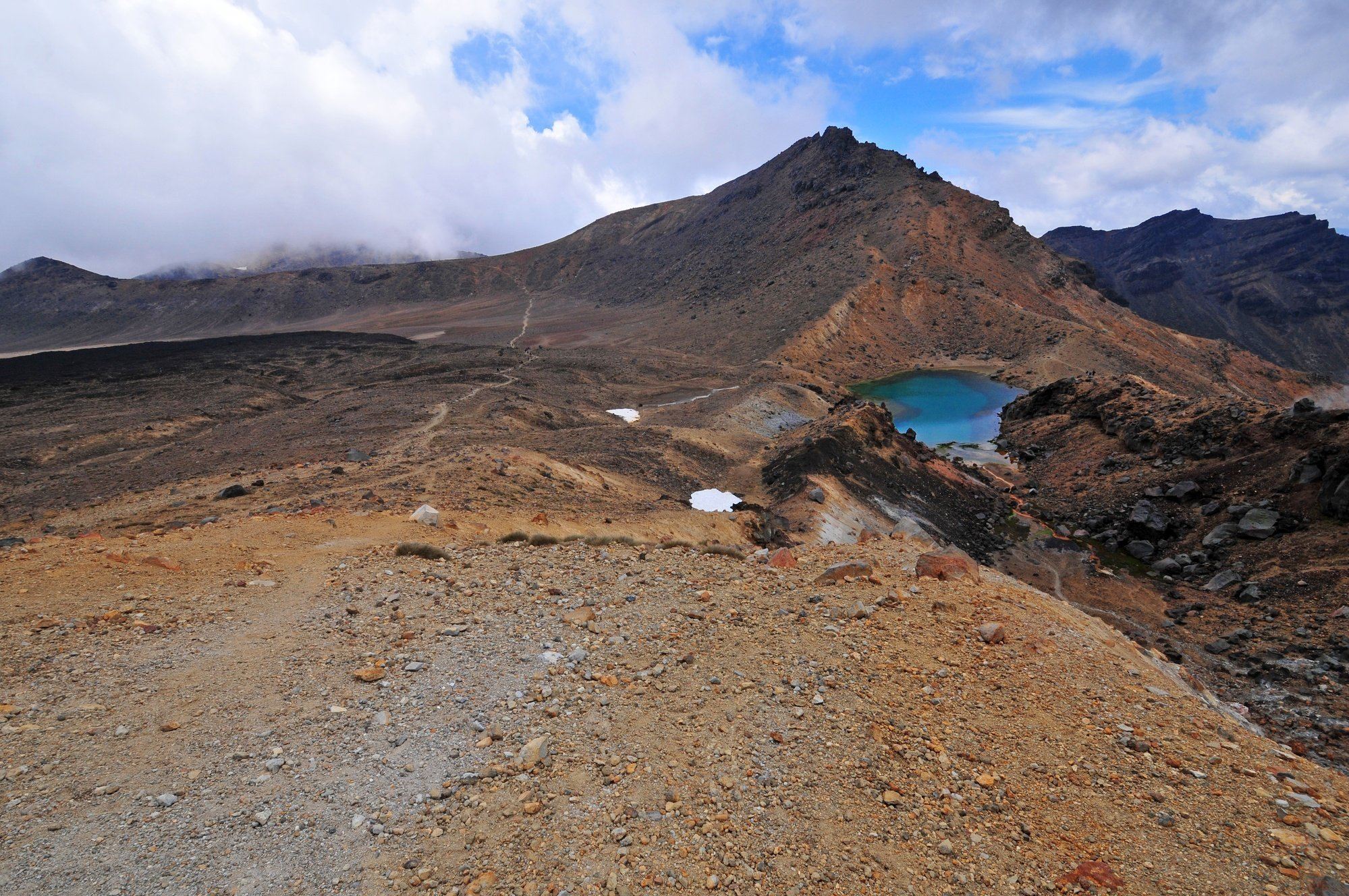 Volcanic terrain in Tongariro National Park, New Zealand