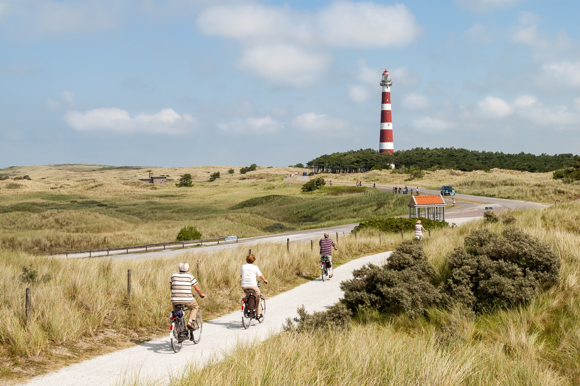 Bicyclists in Ameland, the Netherlands