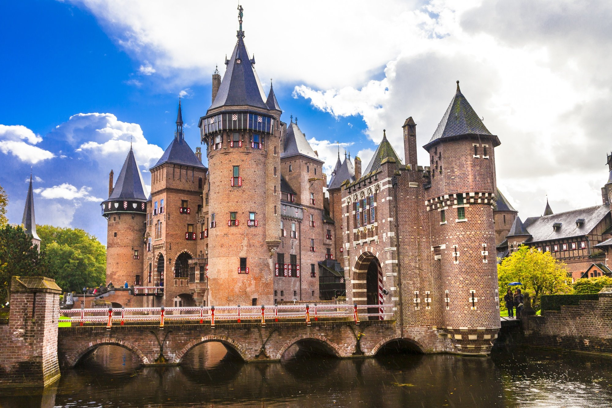 Castle de Haar, the largest castle in the Netherlands