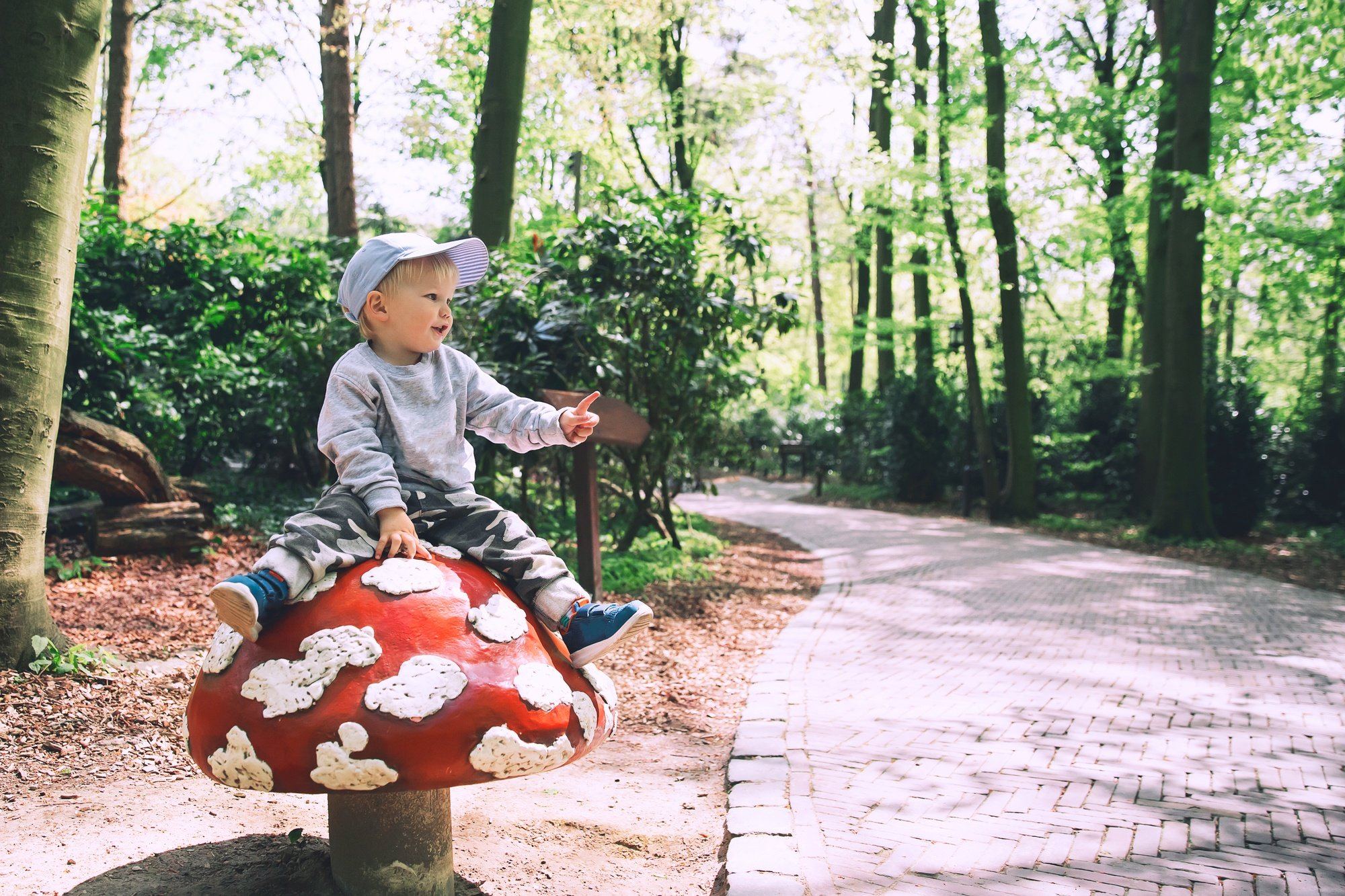 Child at Efteling Amusement Park in the Netherlands