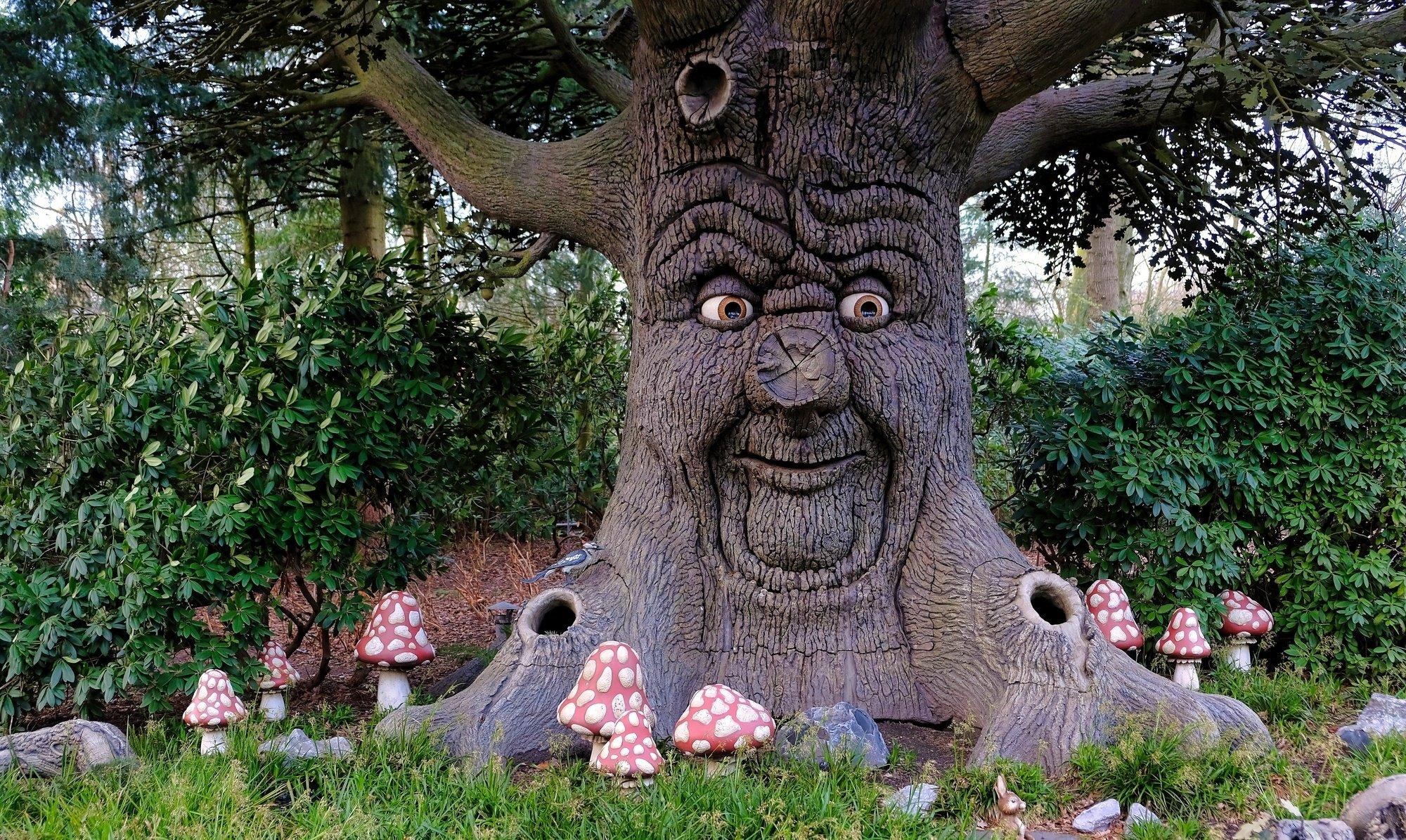 Talking tree at Efteling Amusement Park