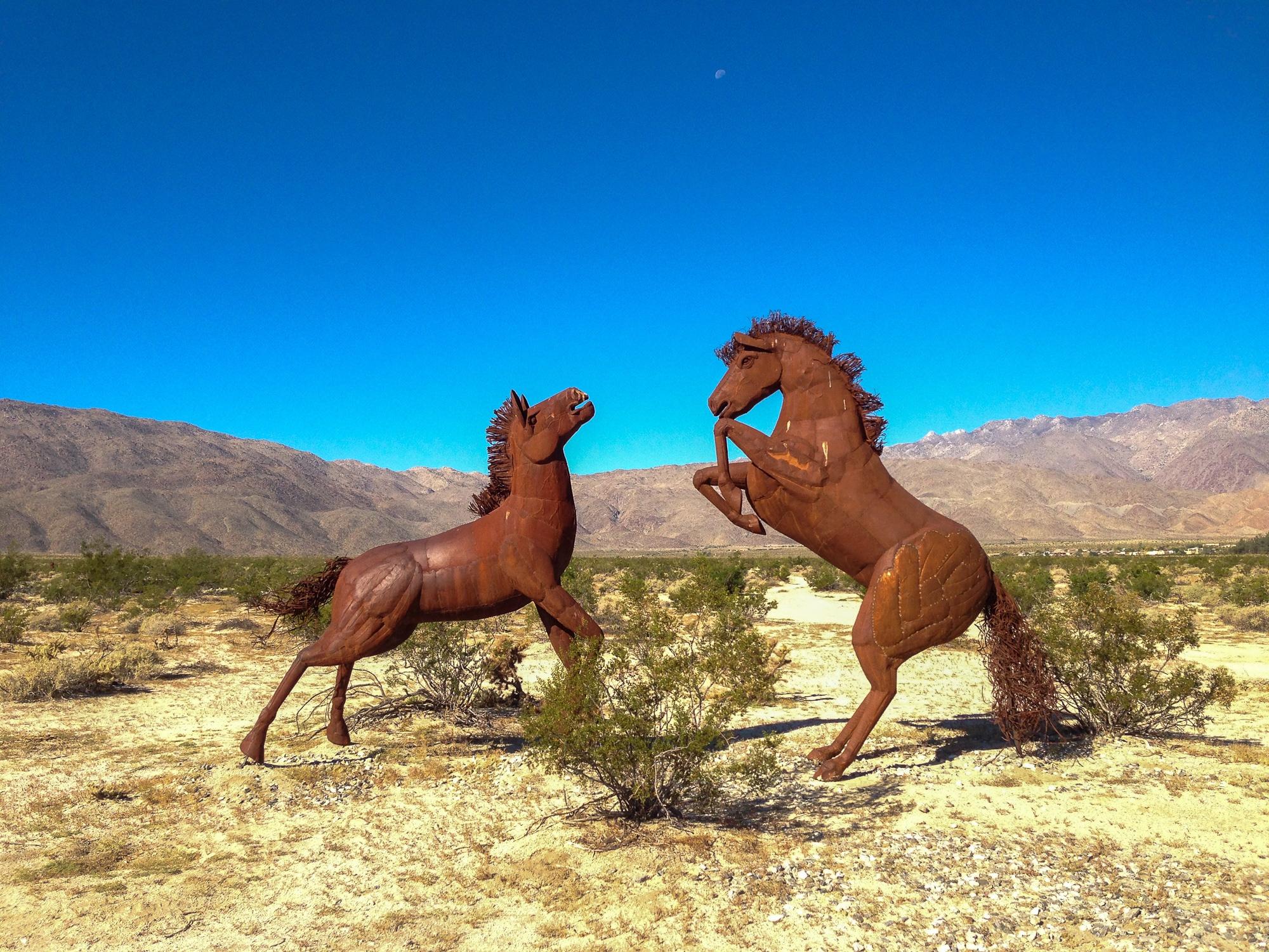 Horse sculptures by Artist Ricardo Breceda in Borrego Springs