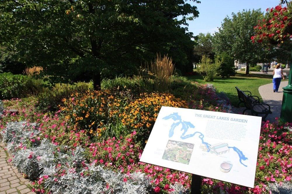 Great Lakes Garden at the Niagara Falls State Park Visitor Center