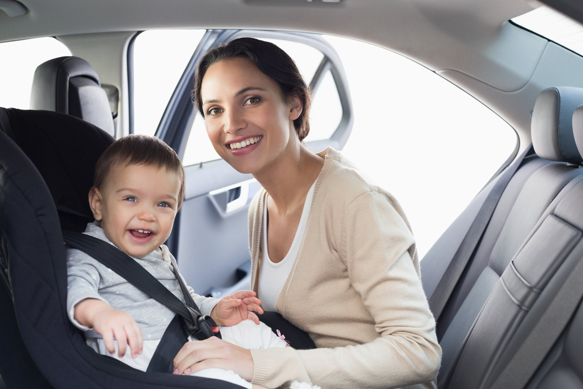 Get in the backseat with your baby or toddler for part of your road trip, if possible
