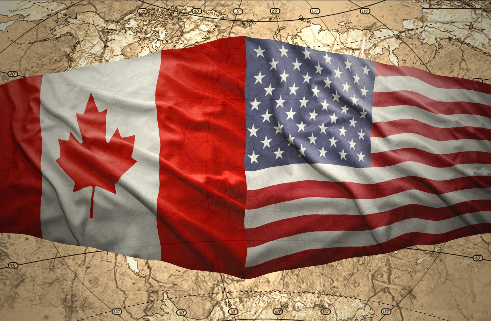 Canada and the USA share the world's longest international border