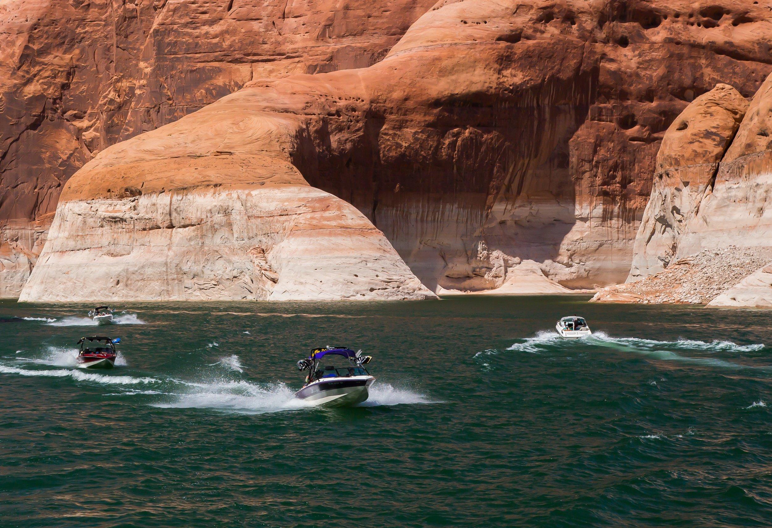 Speedboats on Lake Powell
