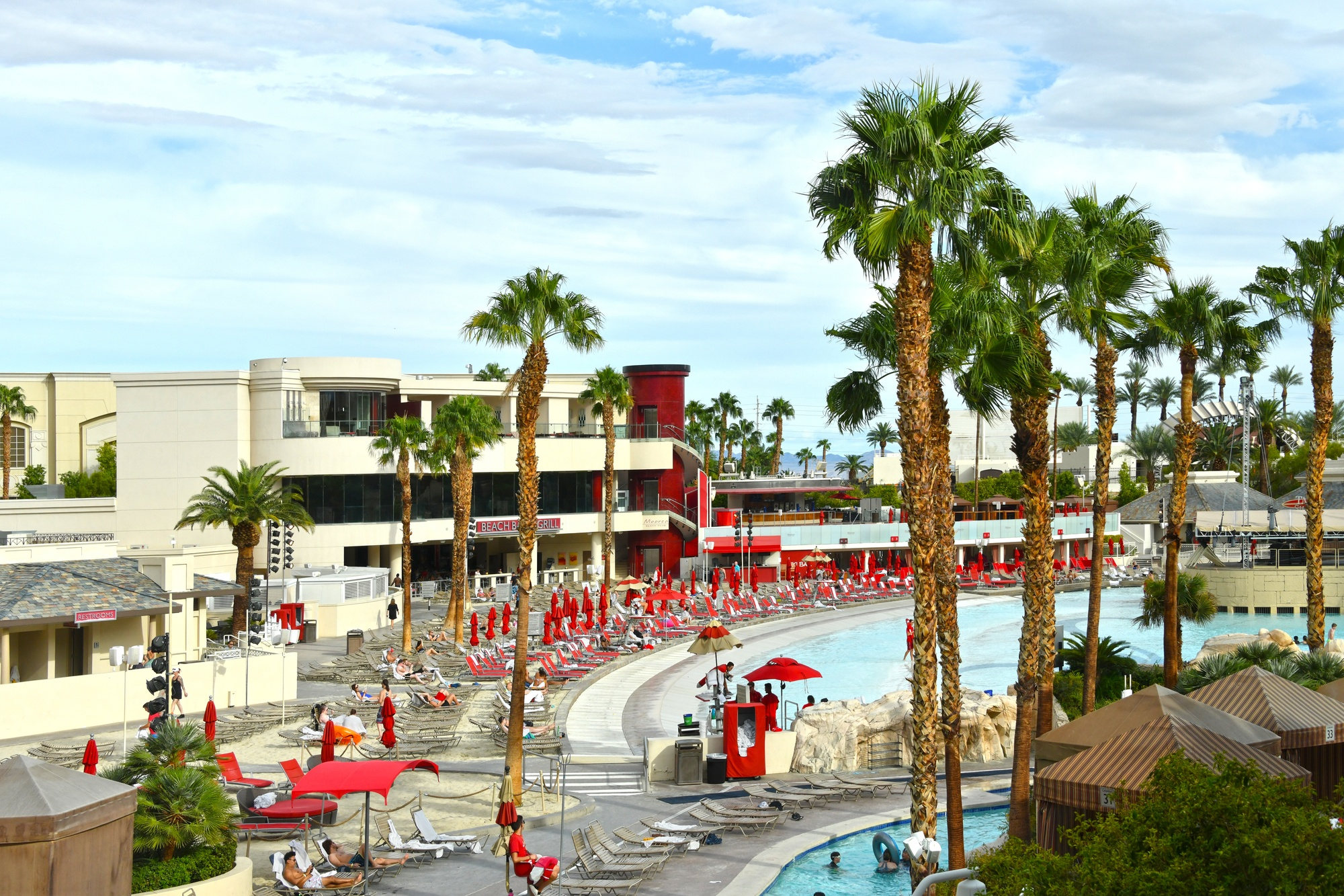 Mandalay Bay Beach pools in Las Vegas
