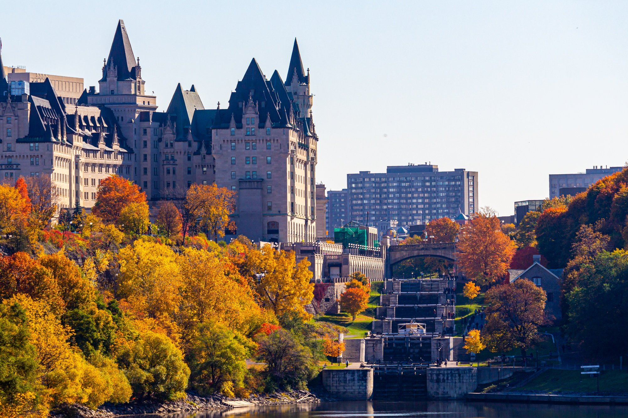 The Fairmont Château Laurier in fall