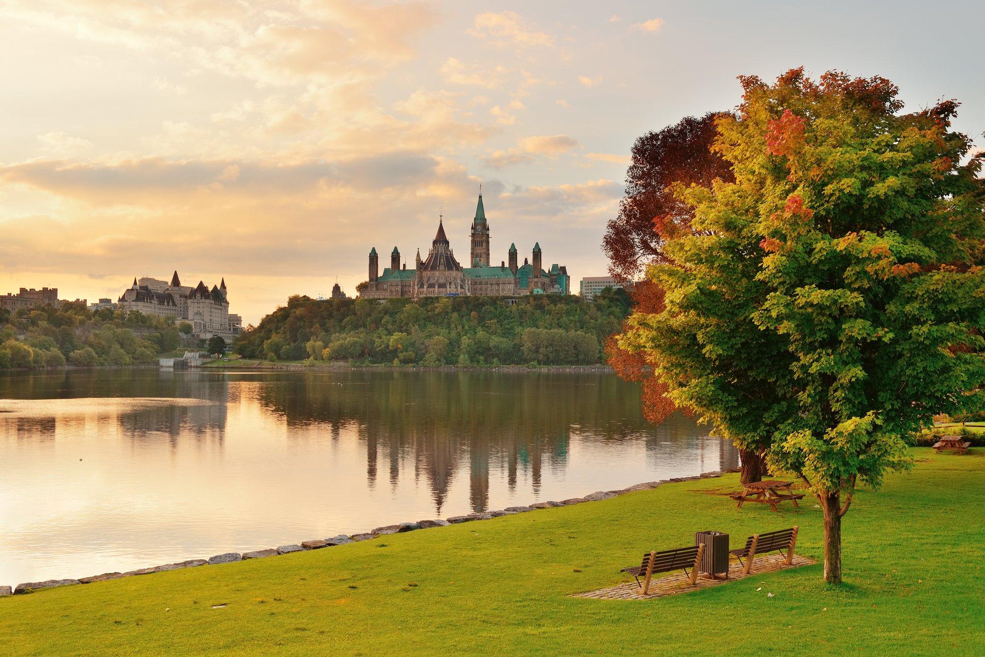 Ottawa's Parliament Hill in fall