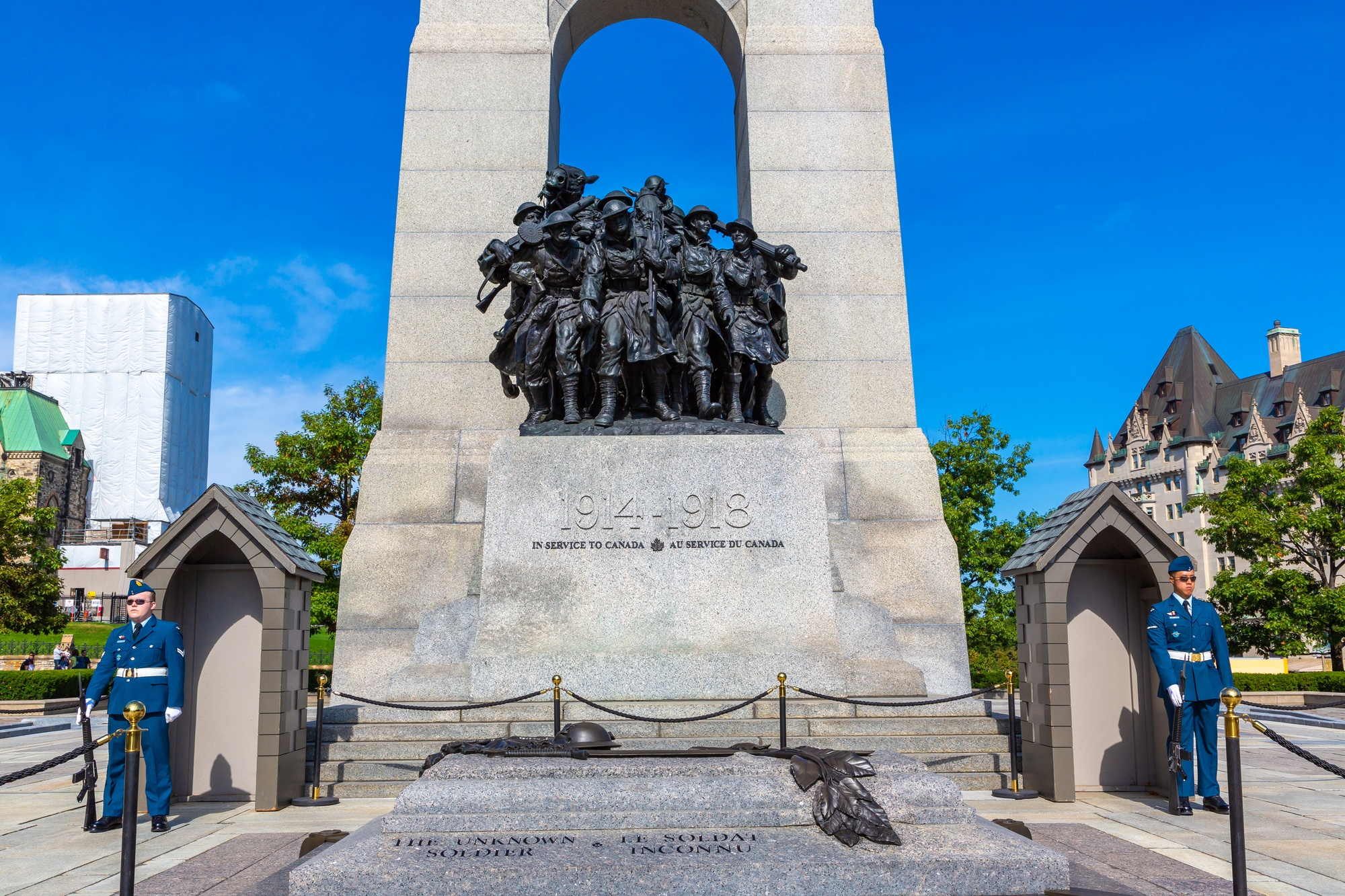 Guards at The National War Memorial in Ottawa