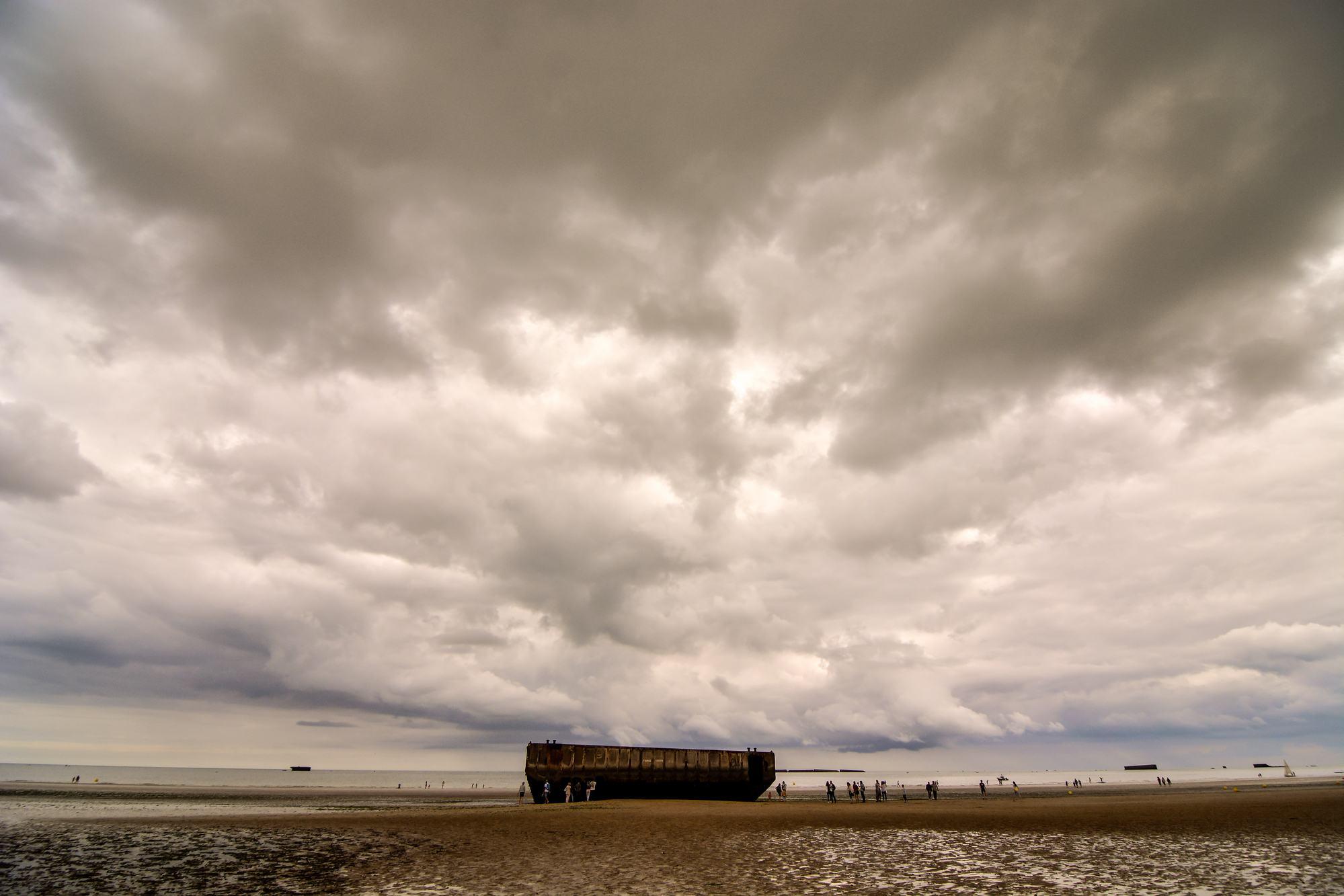 Normandy D-Day landing beach