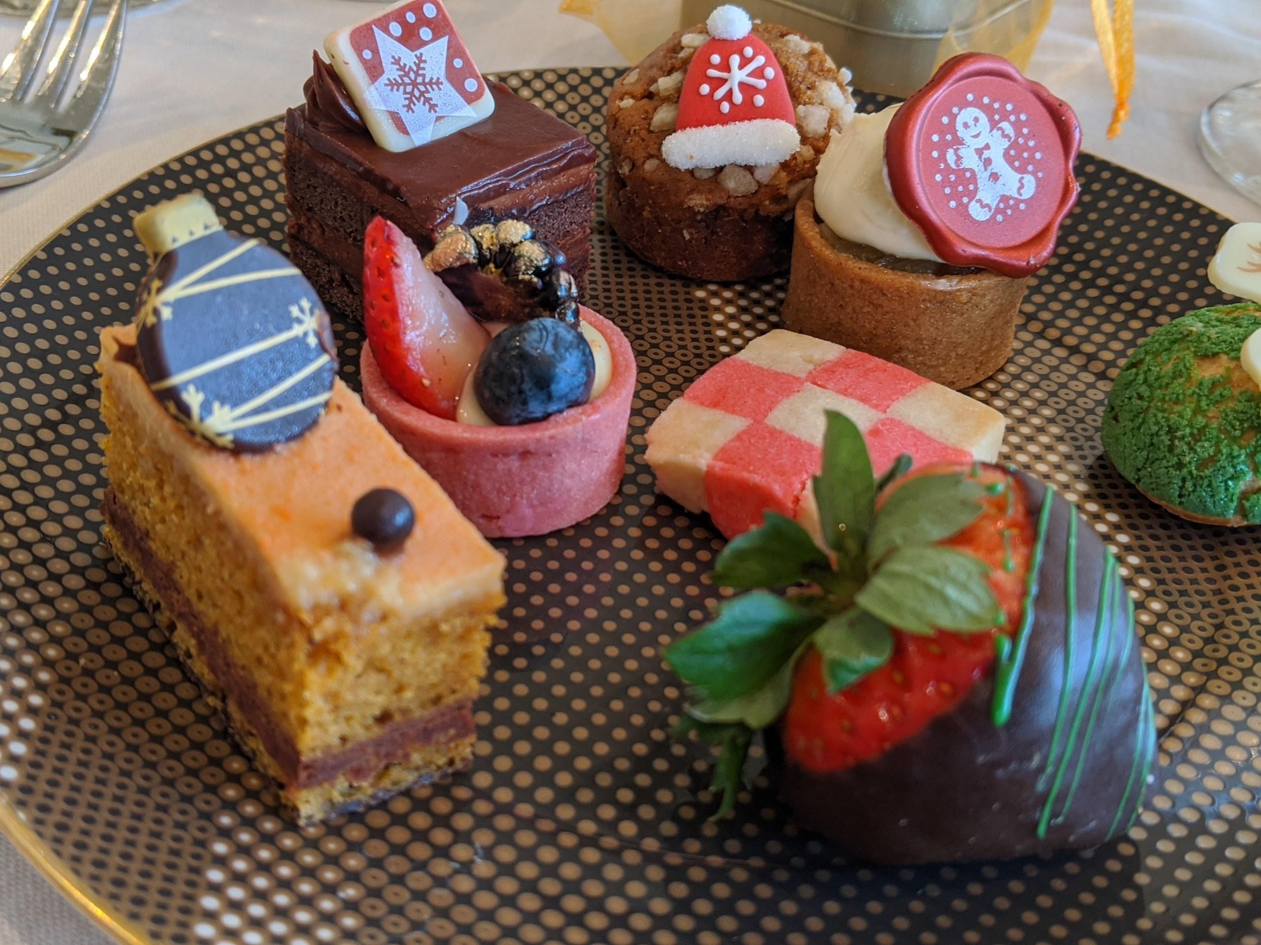 Treats at the Phoenician Holiday Tea in Scottsdale, Arizona