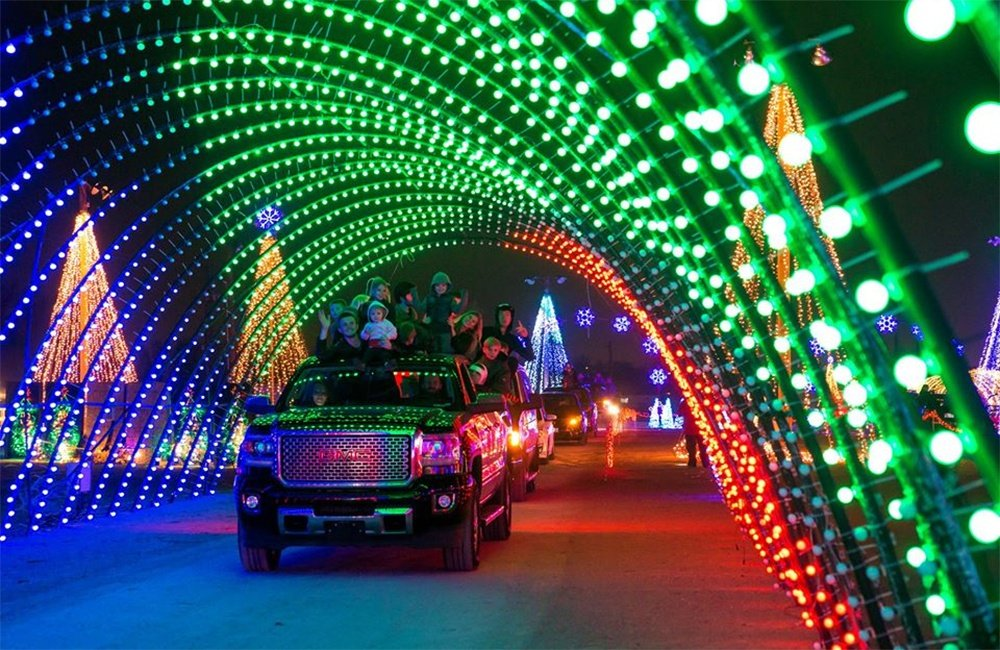 Drive-through Holiday Lights at Salt River Fields in Scottsdale, AZ