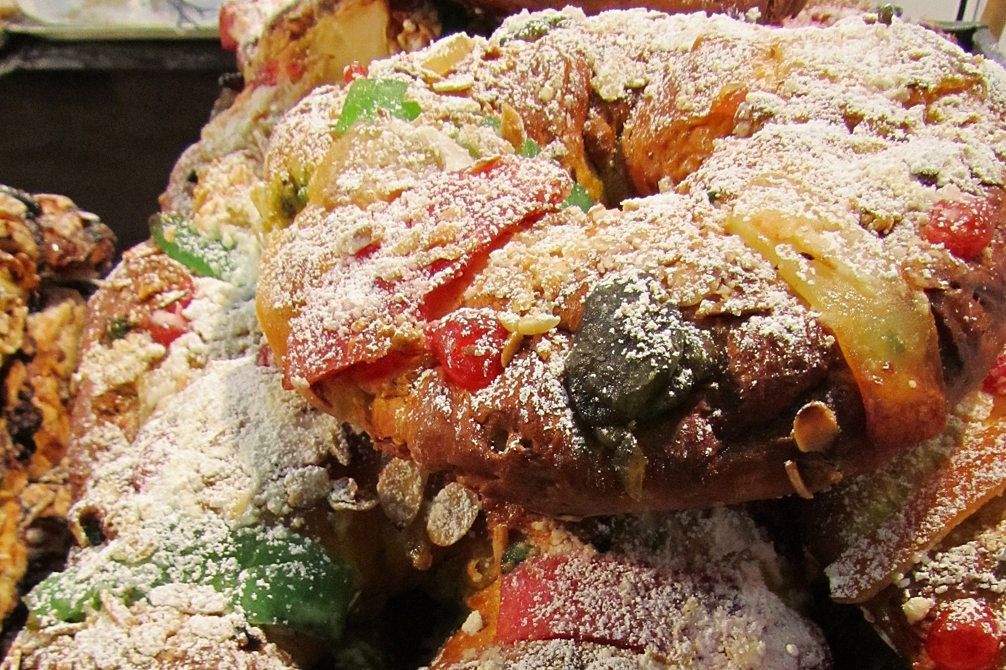 A Christmas king's cake, or Bolo Rei, in Portugal