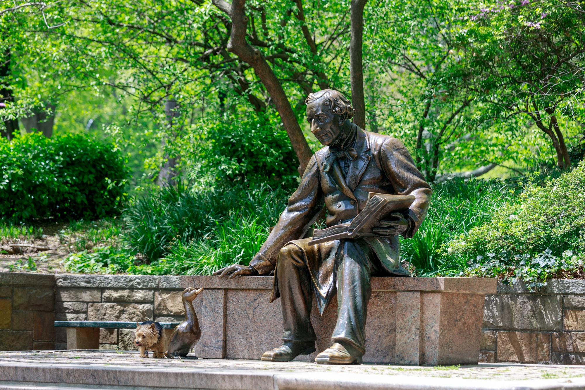 Hans Christian Andersen sculpture in NYC Central Park