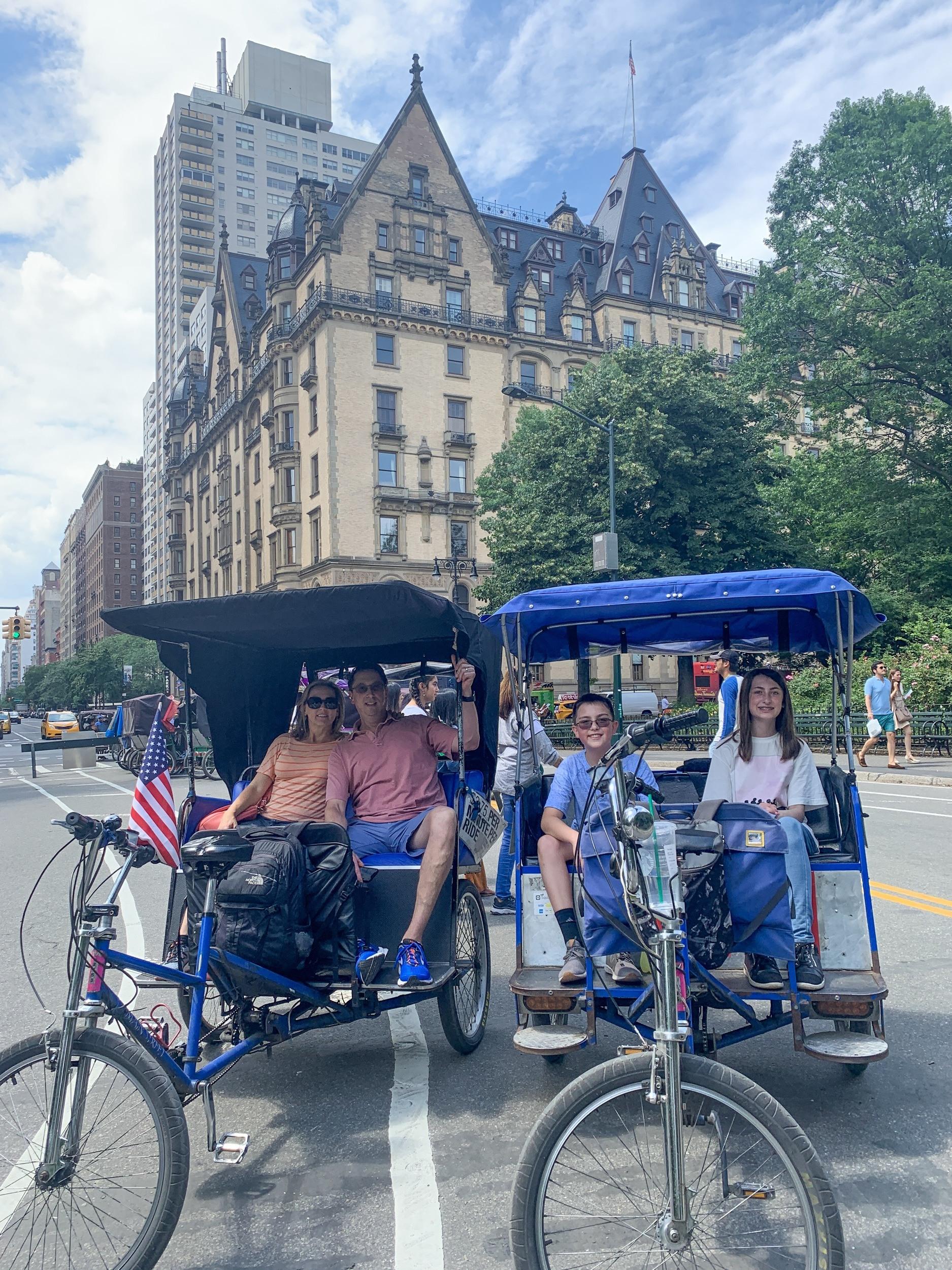 Central Park surrey tour with kids