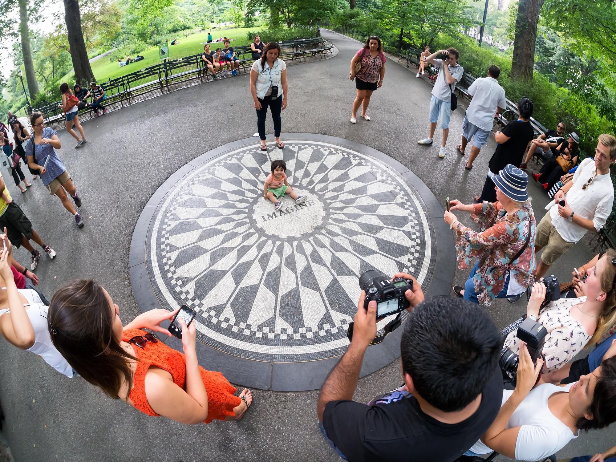 Imagine mosaic commemorating John Lennon at Strawberry Fields in Central Park