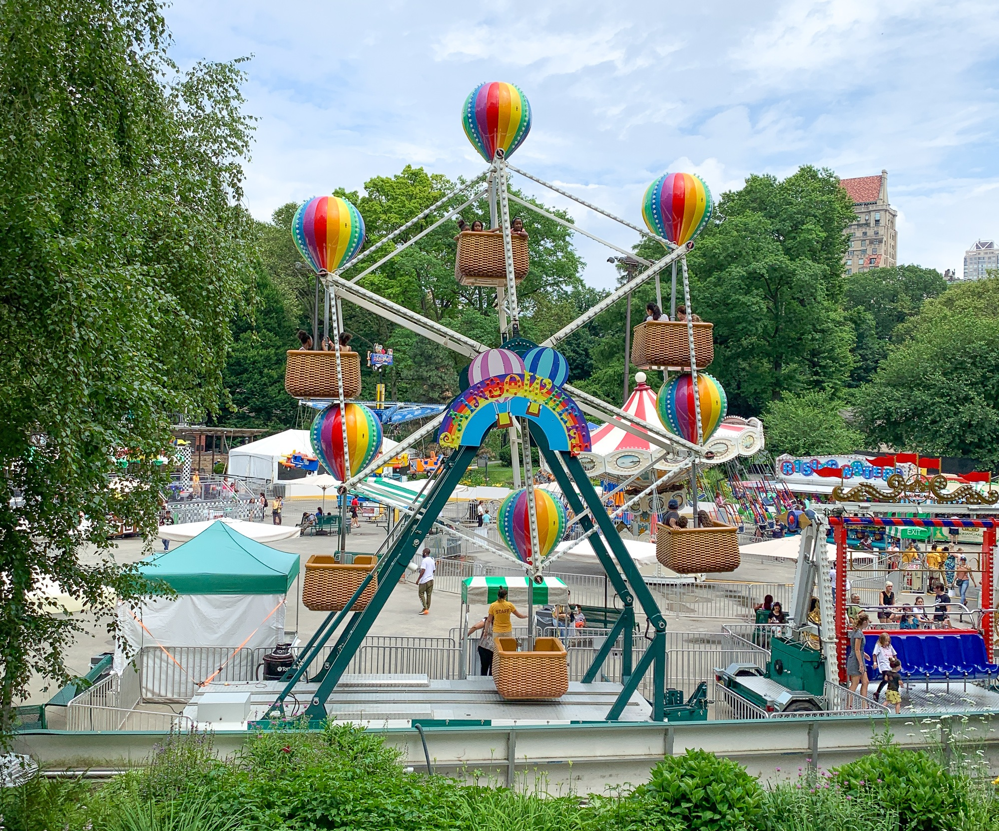 Victorian Gardens Amusement Park in Central Park in summer
