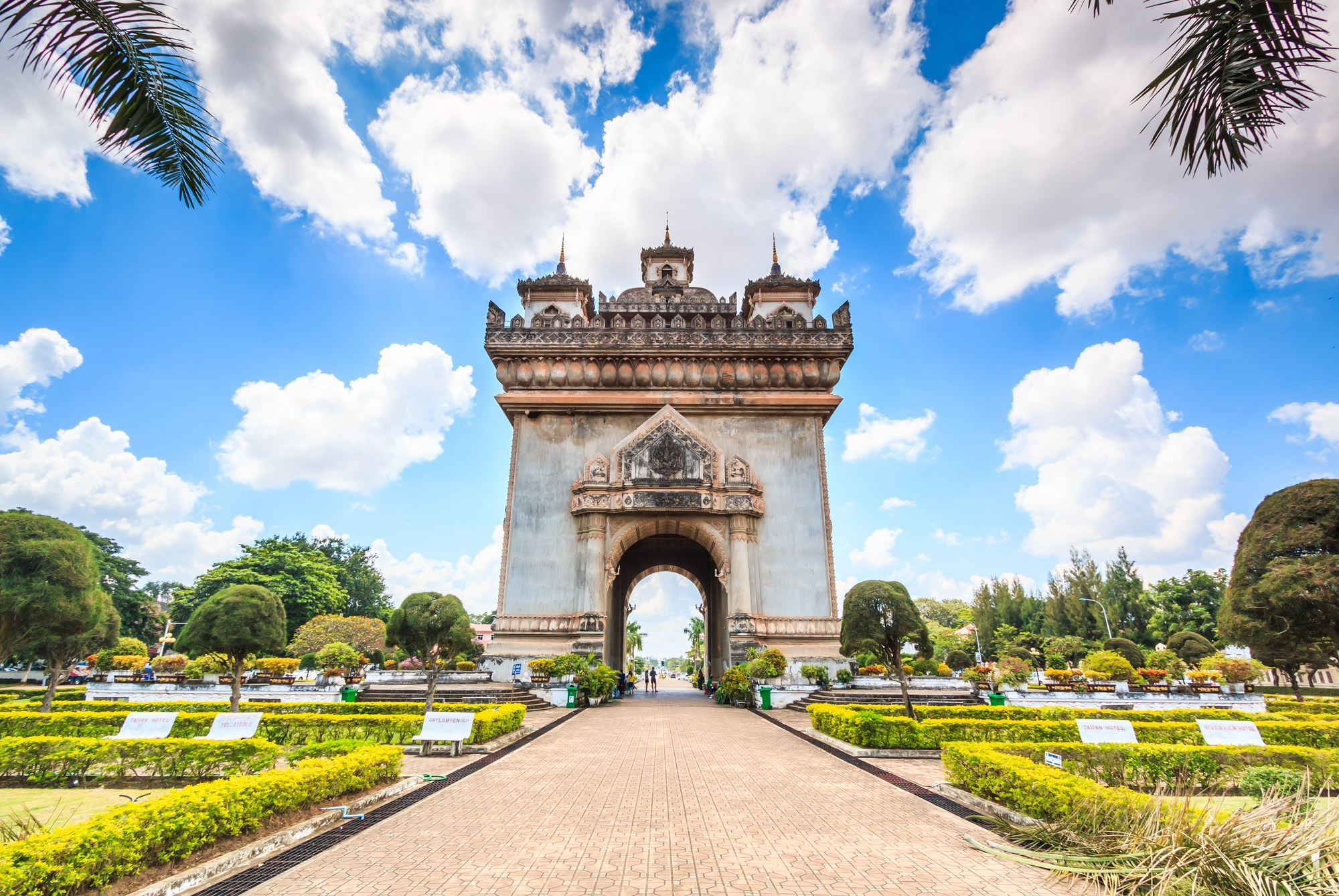 Patuxay Victory Monument in Laos