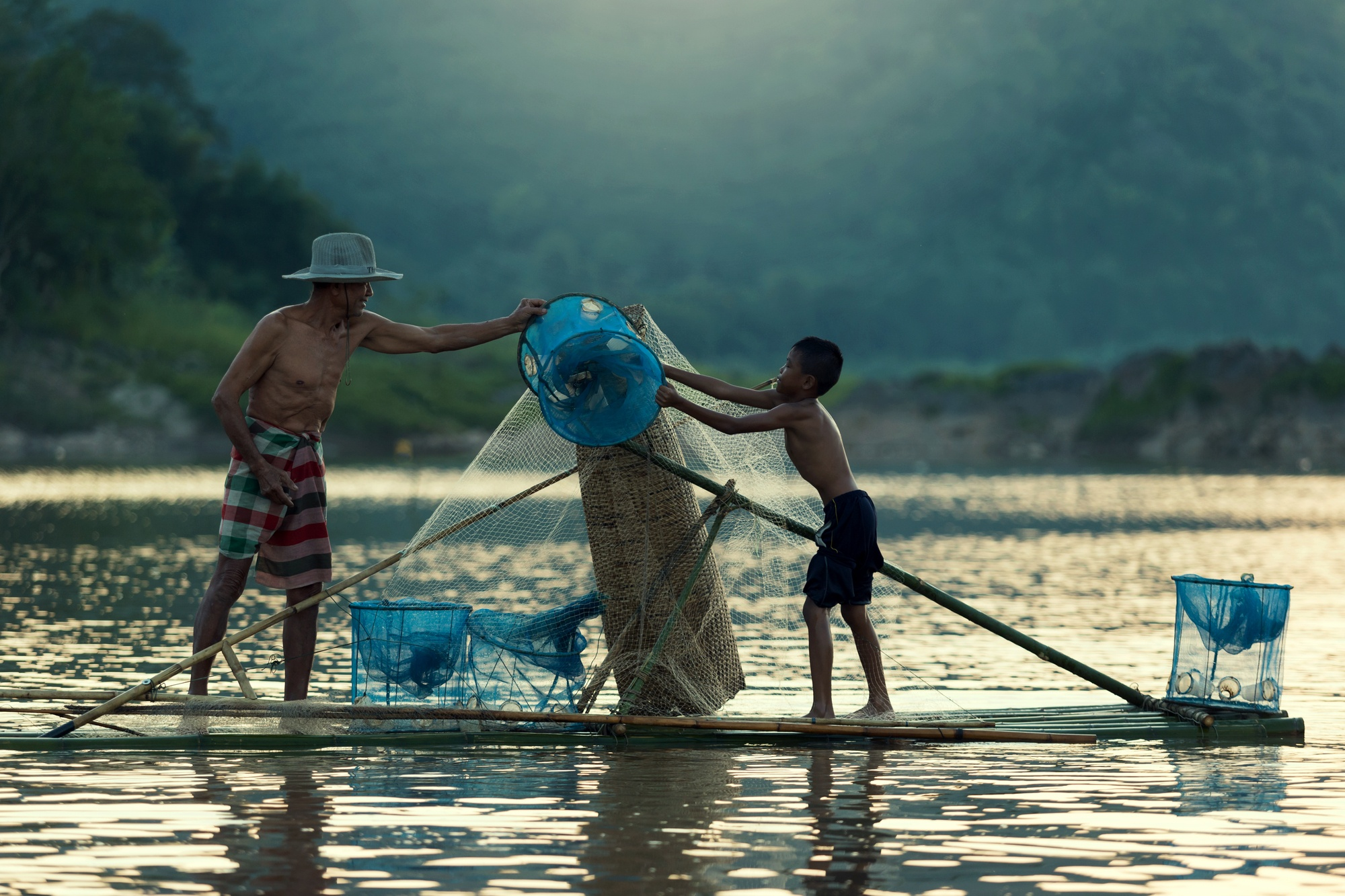 Fishing is an important part of life in Laos