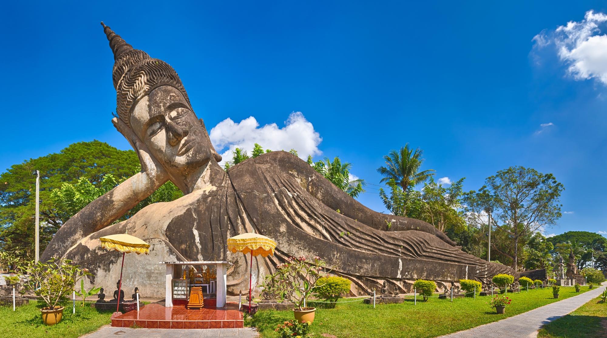 Beautiful sculpture in Buddha Park