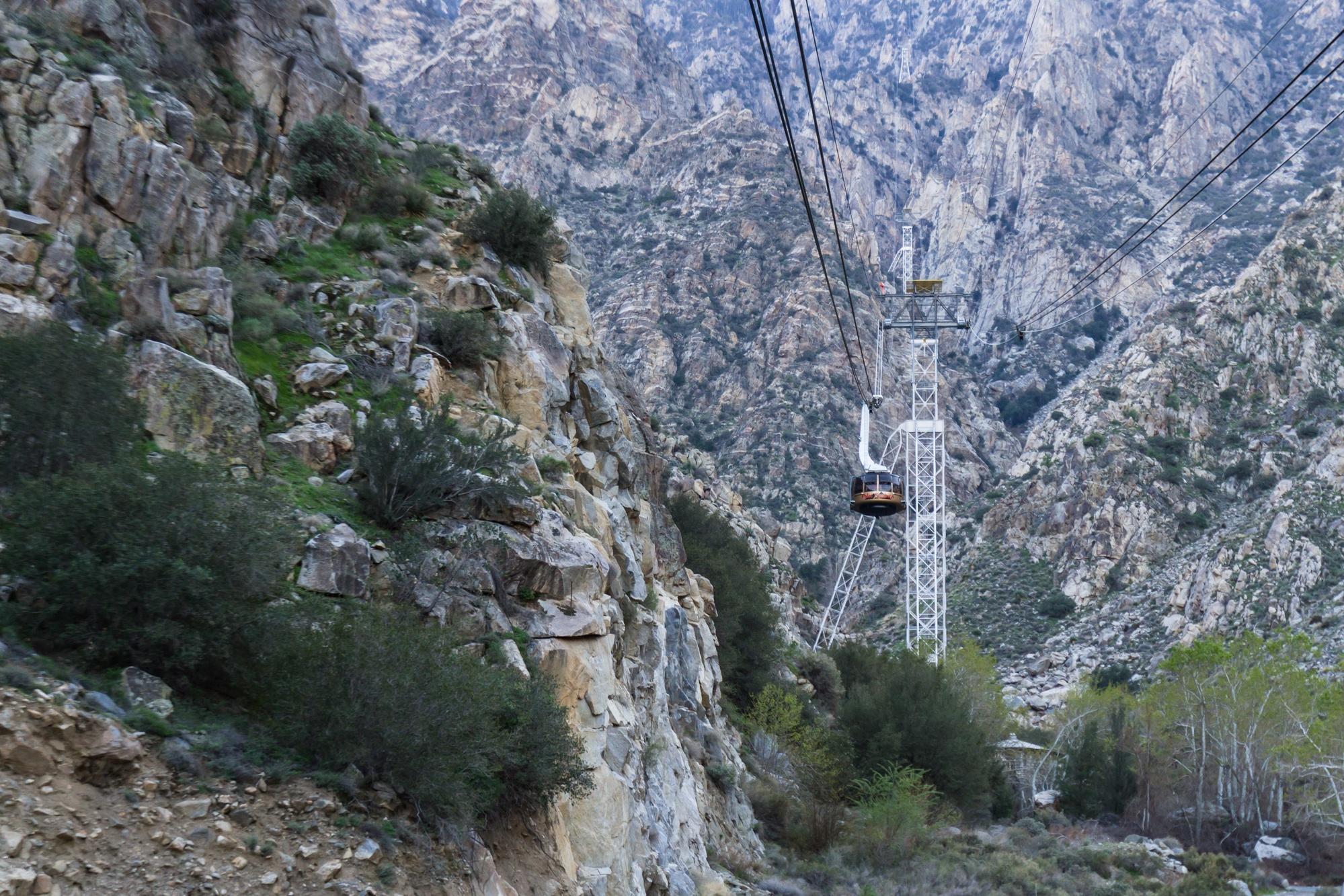 Palm Springs Aerial Tram in the San Jacinto Mountain Range