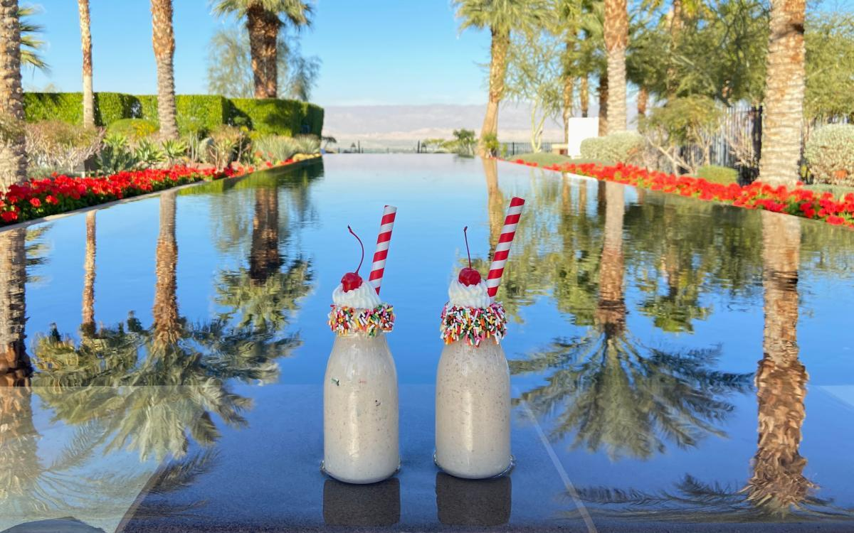 Swanky date shakes at State Fare Bar & Kitchen at the Ritz-Carlton Rancho Mirage