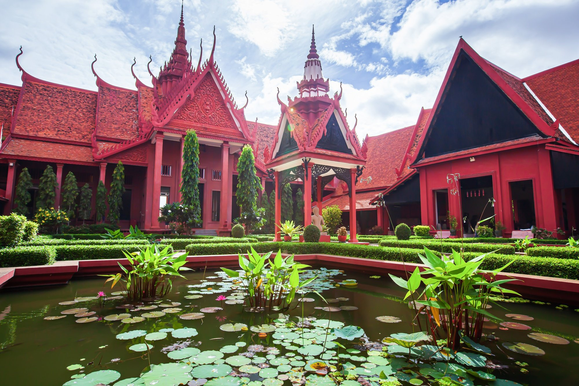 Koi ponds at National Museum of Cambodia