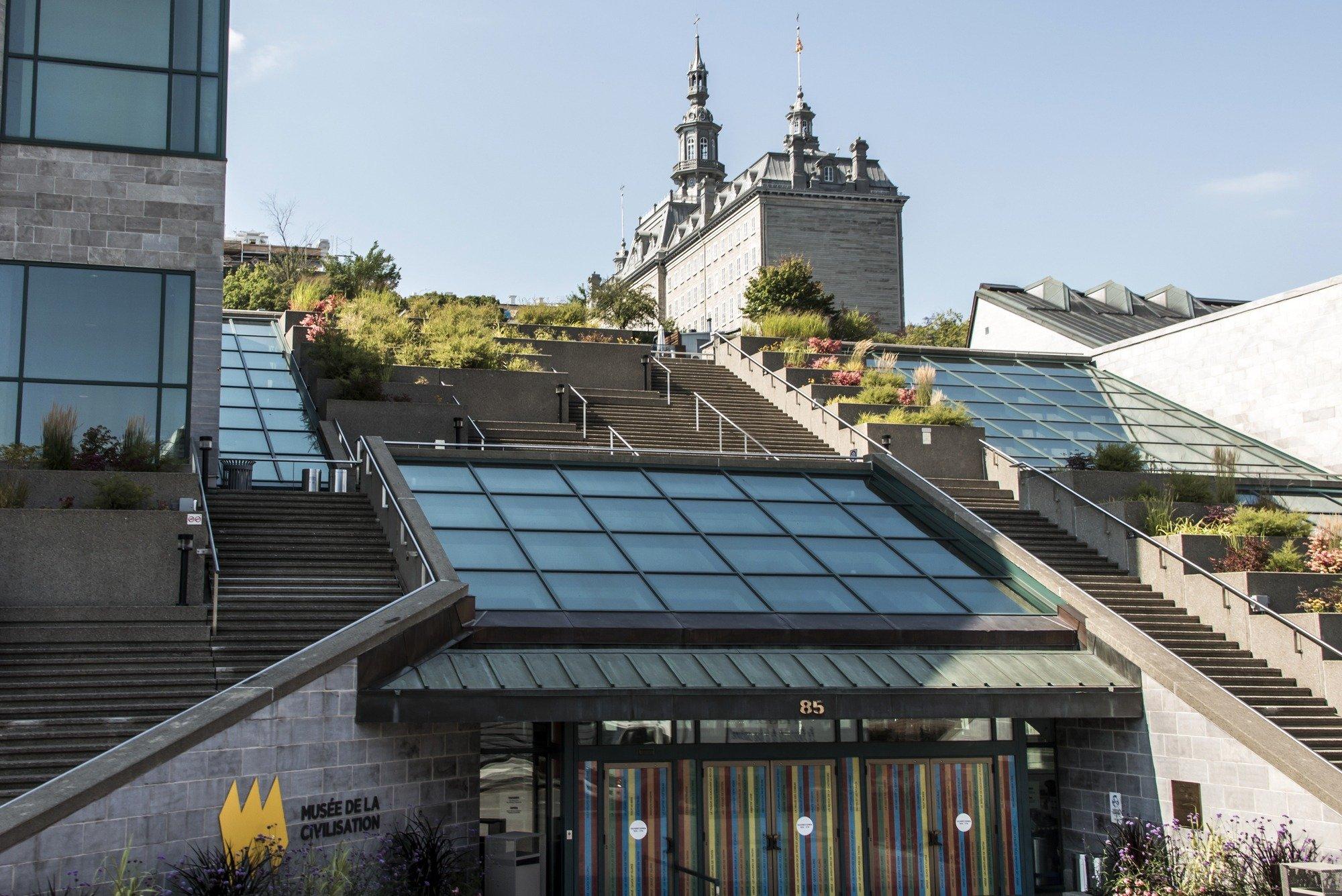 Entrance of Musée de la Civilisation in Quebec City