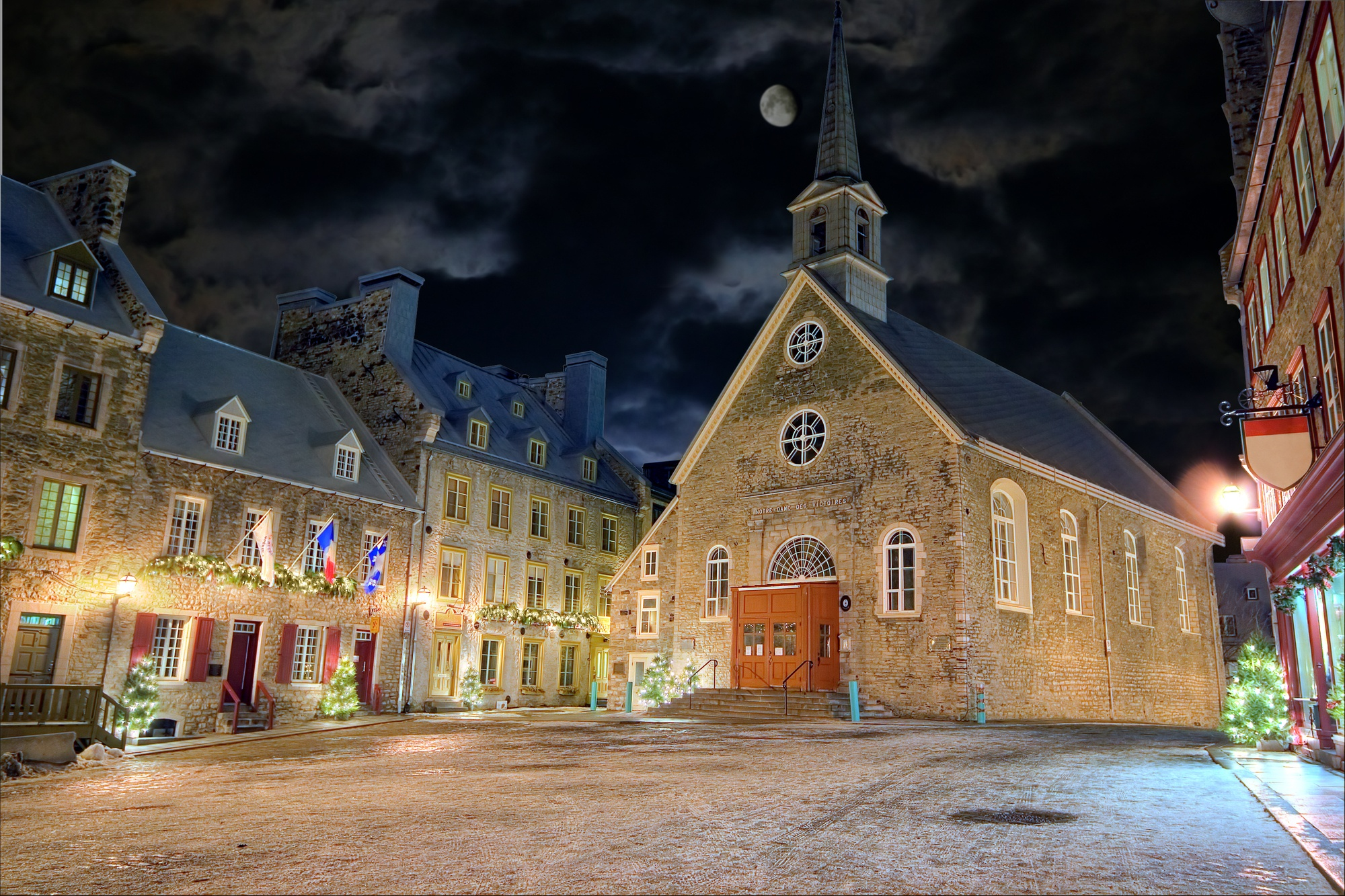 Old Town Quebec City in winter