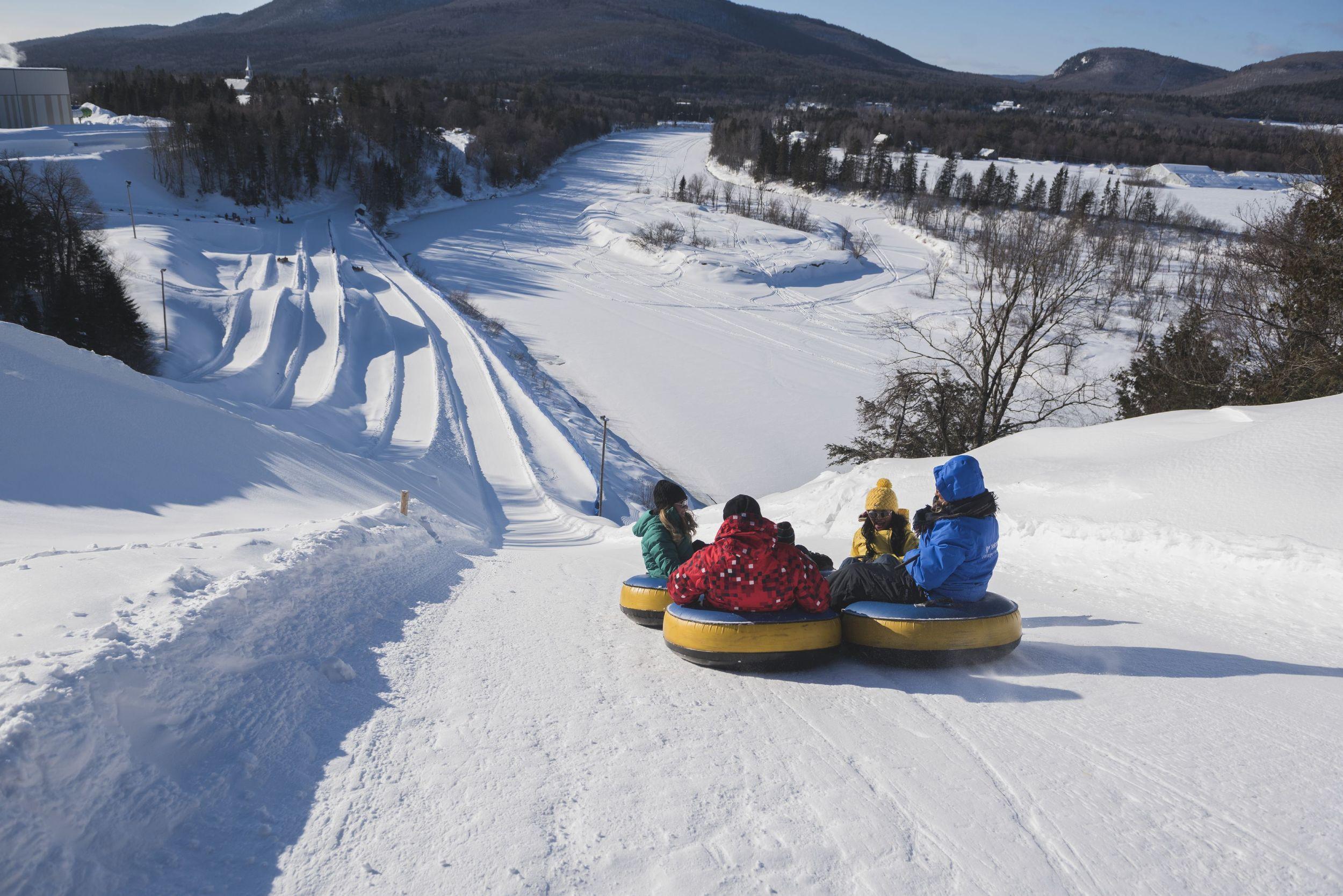 Snow-tubing in Valcartier Village Vacances in Quebec
