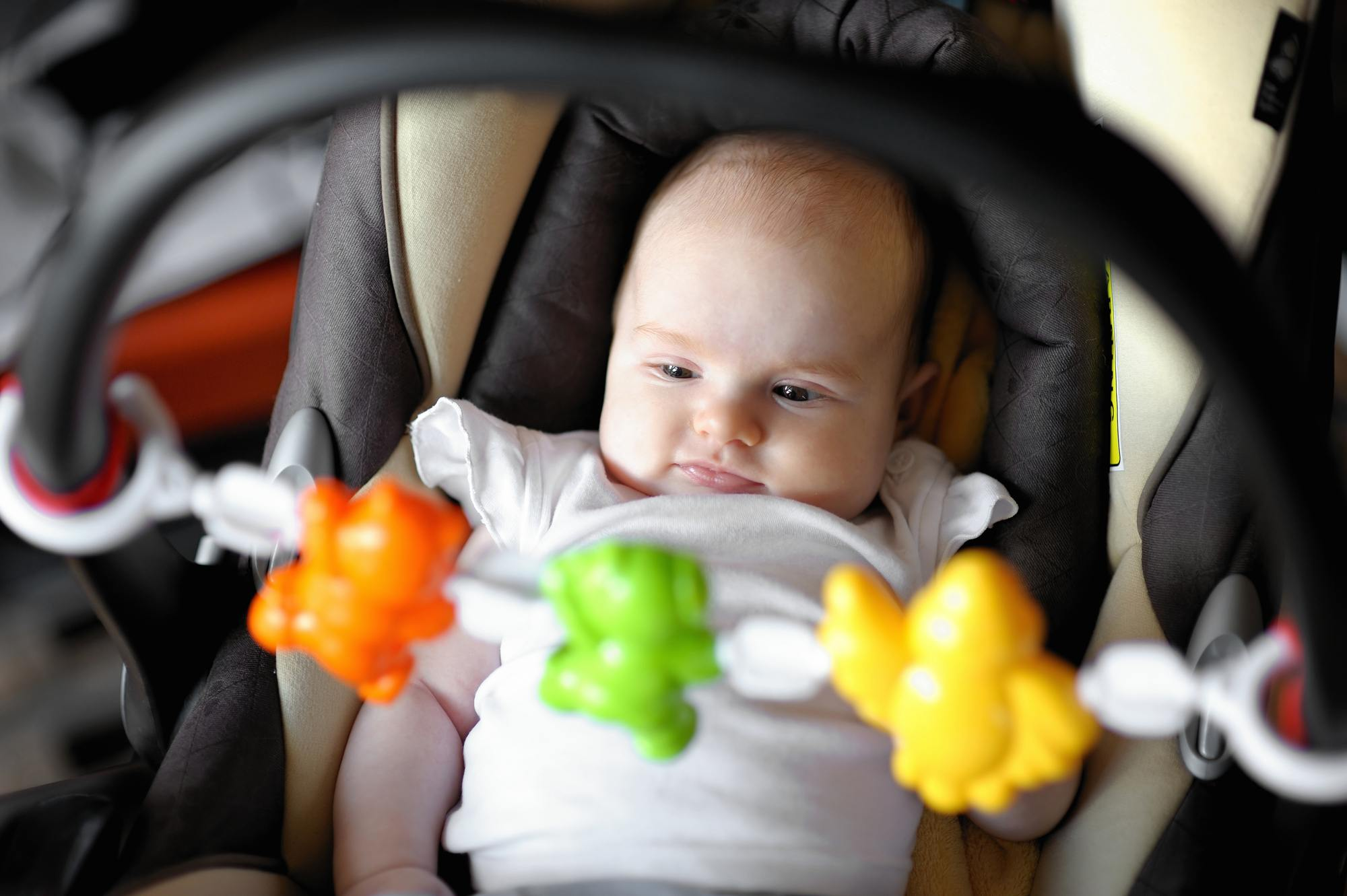 Pack plenty of toys when traveling with a baby