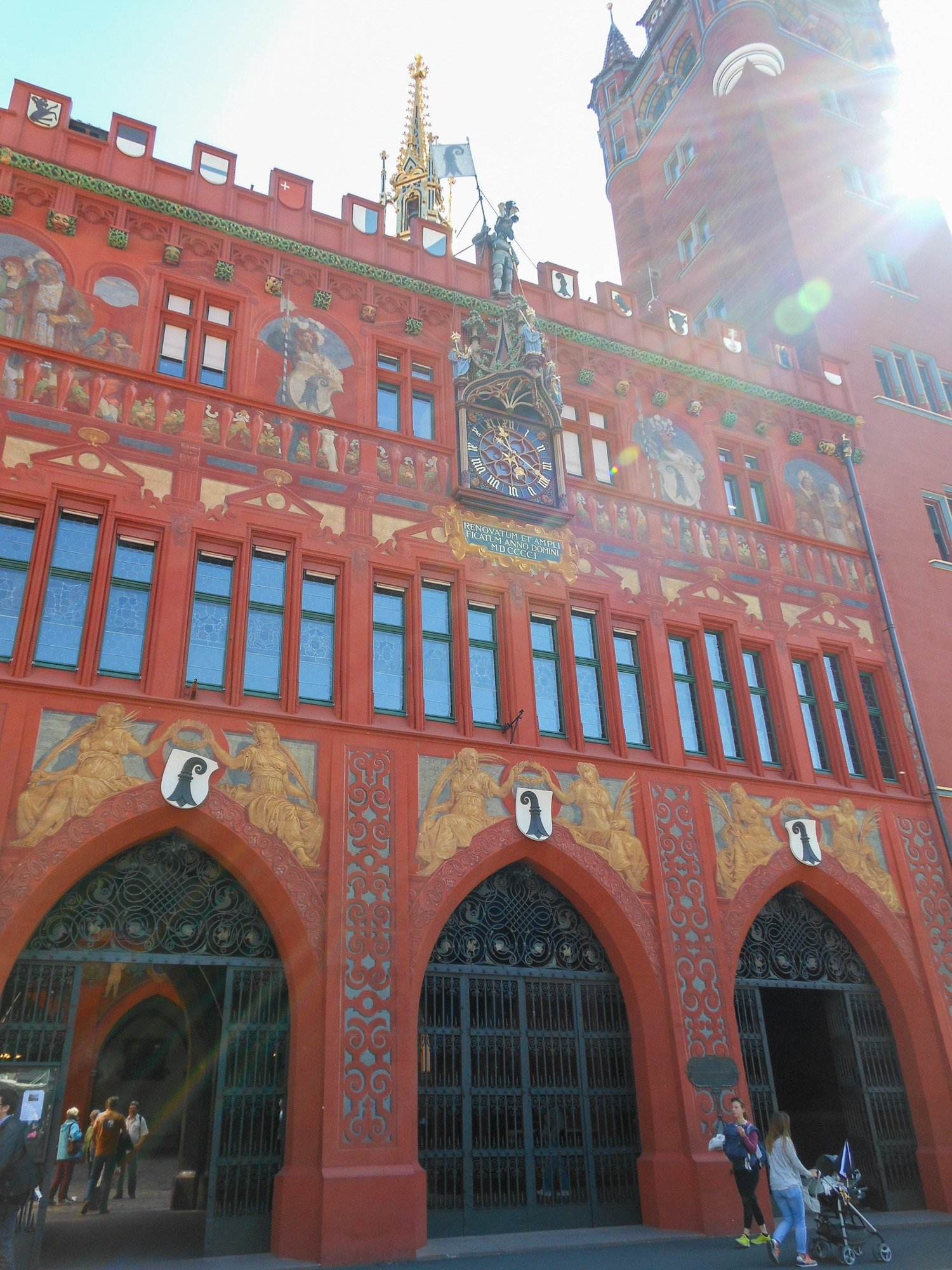 Basel's colorful Town Hall, Rathaus