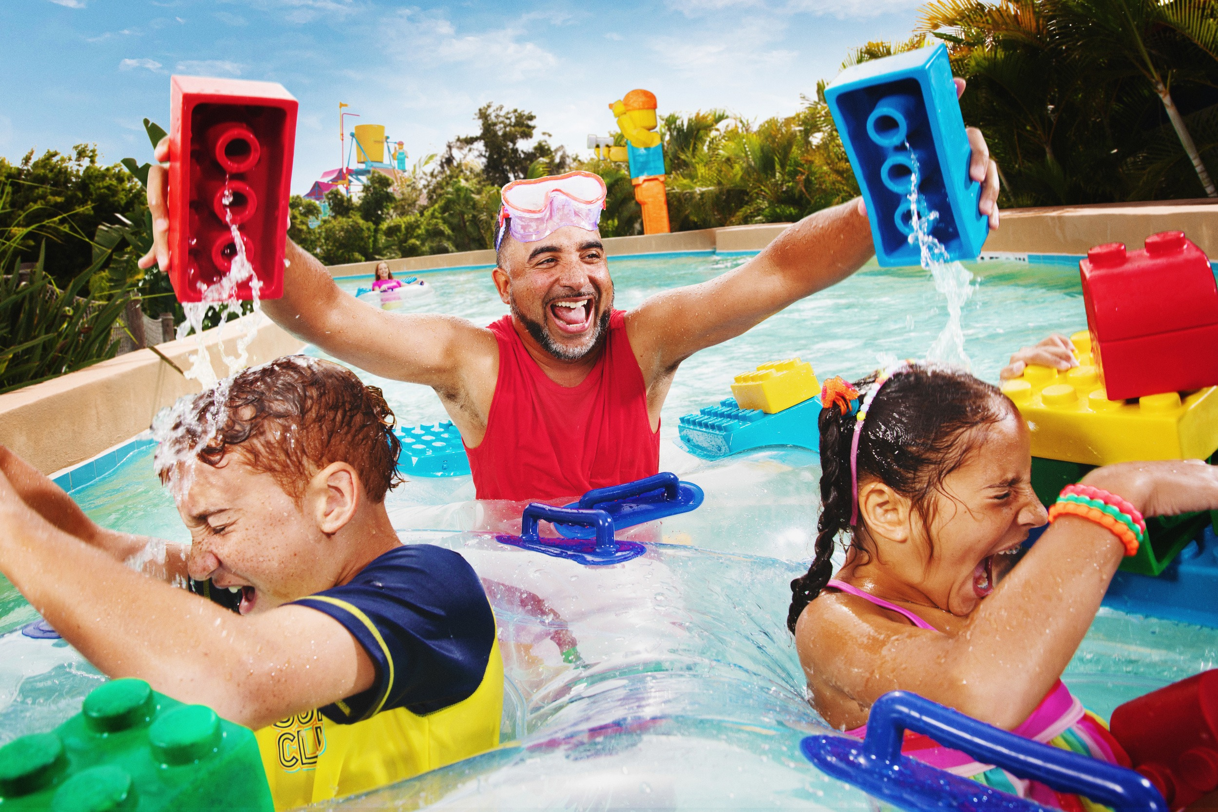 Build-A-Raft Lazy River at Legoland Florida Water Park