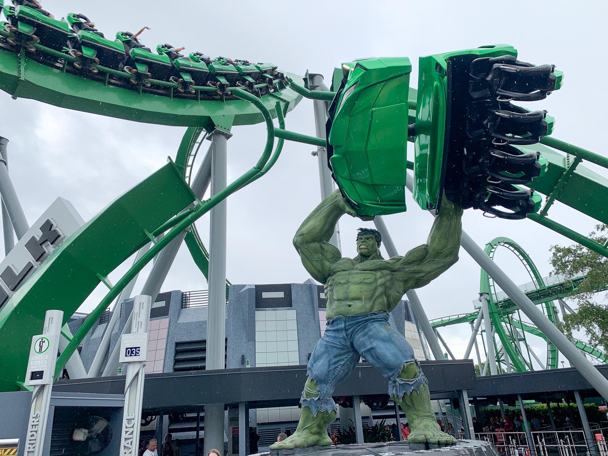 The Incredible Hulk Coaster at Islands of Adventure