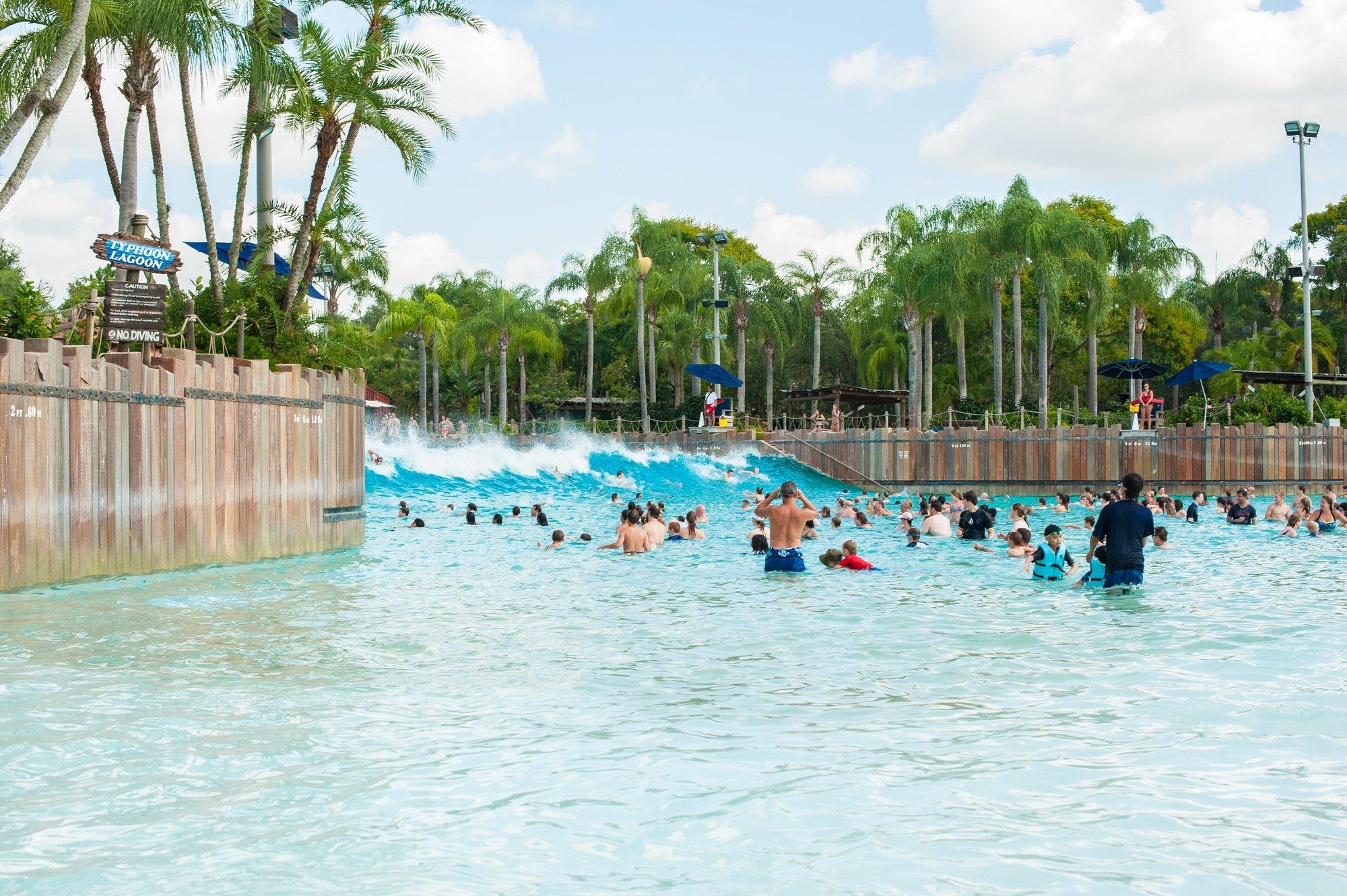 Disney's Typhoon Lagoon in Orlando with kids