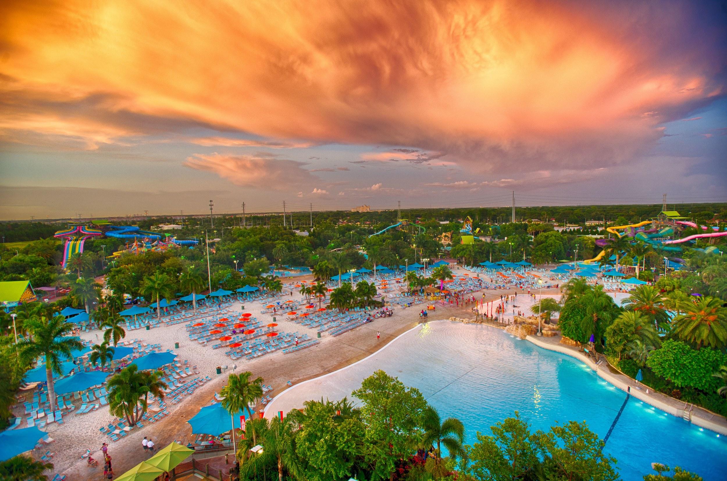 Aquatica Florida sunset view in Orlando