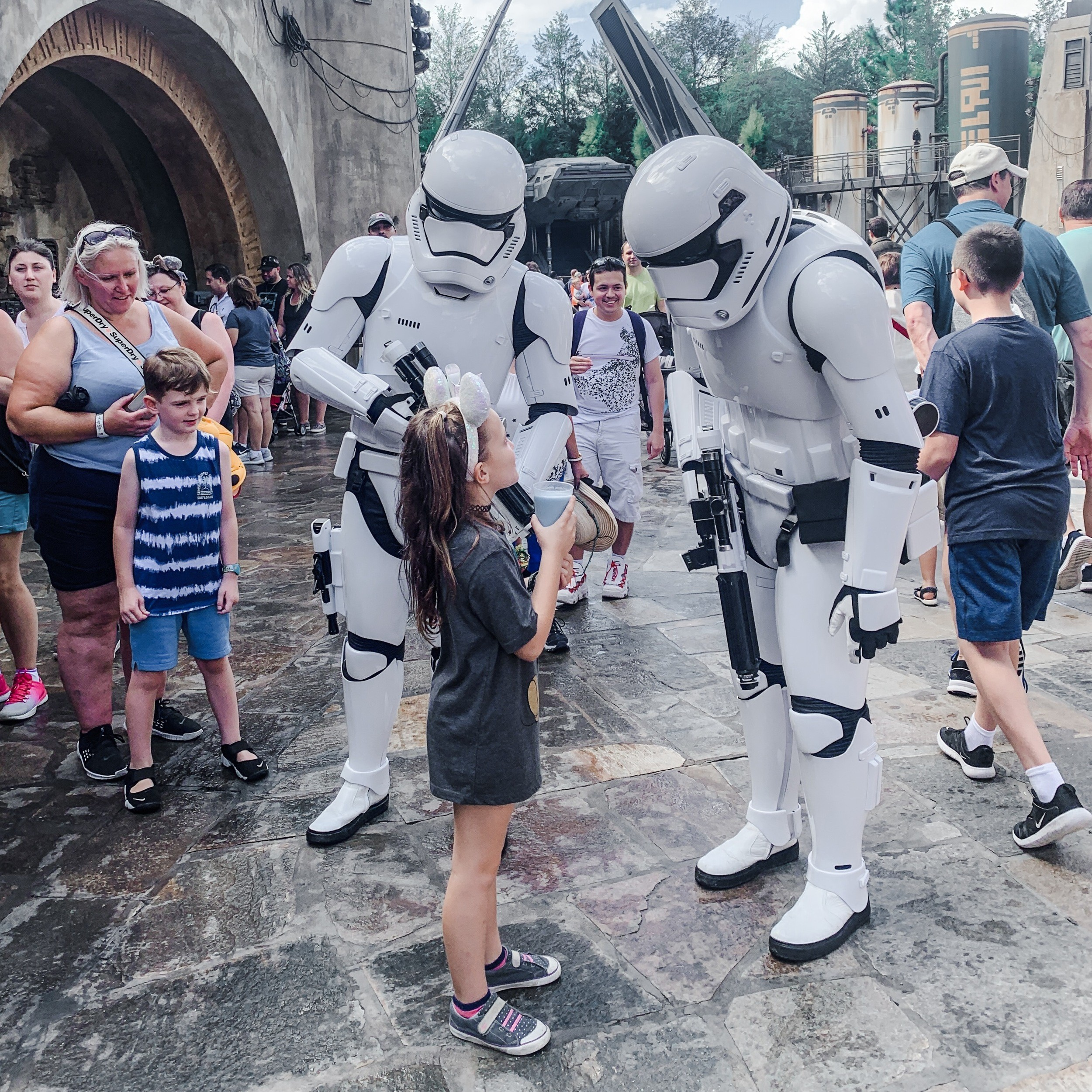Stormtroopers in Star Wars Galaxy's Edge at Disney's Hollywood Studios