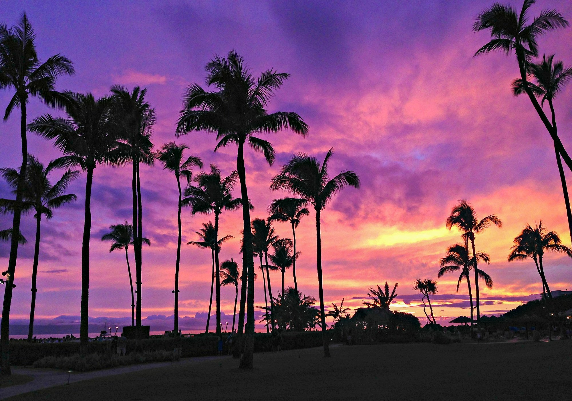 Maui sunset at Sheraton Maui Resort