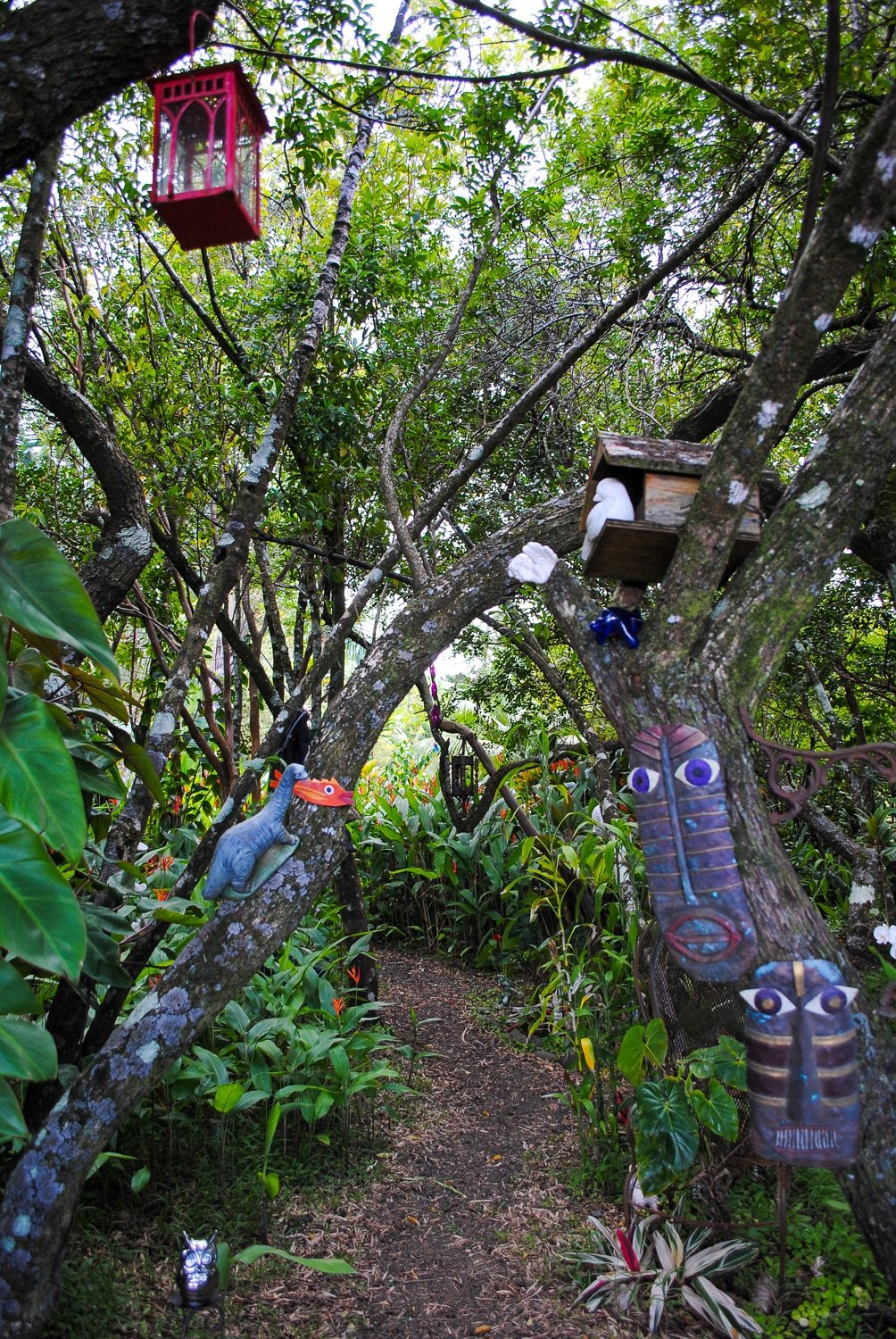 The whimsical Kula Botanic Garden on the Road to Hana in Maui