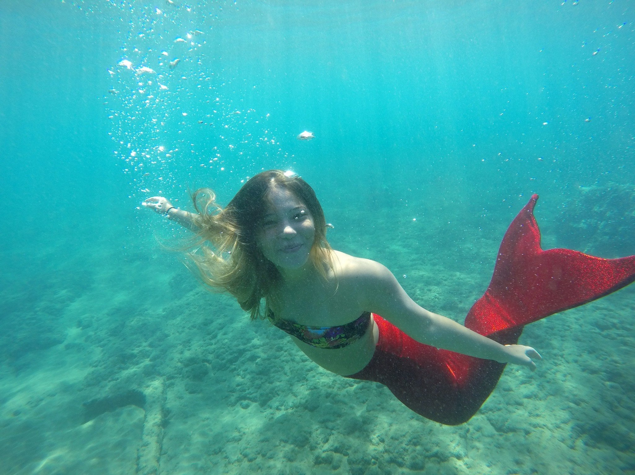 Become a mermaid for the day with Hawaii Mermaid Adventures in Maui with kids and teens