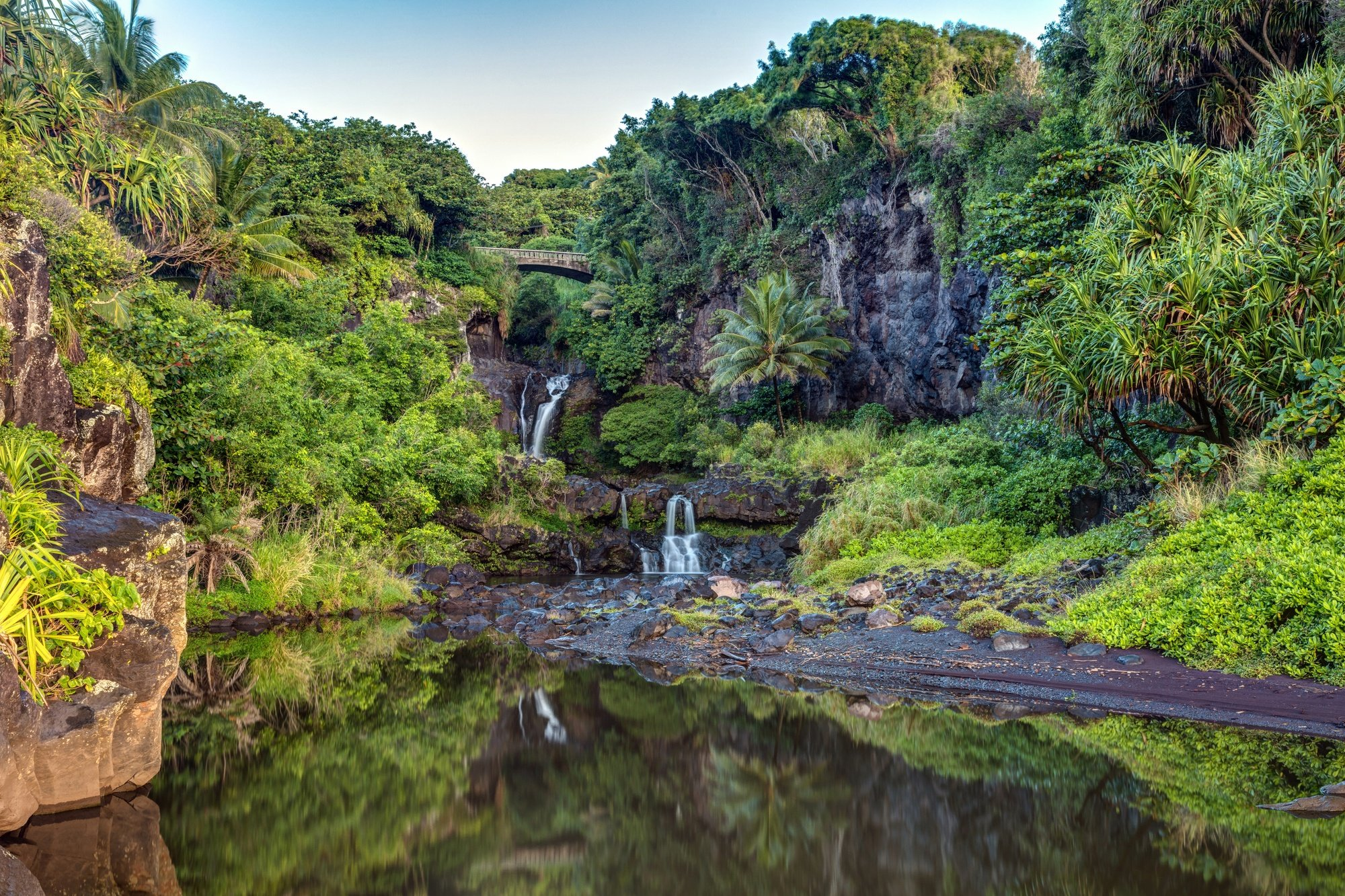 Seven Pools waterfalls