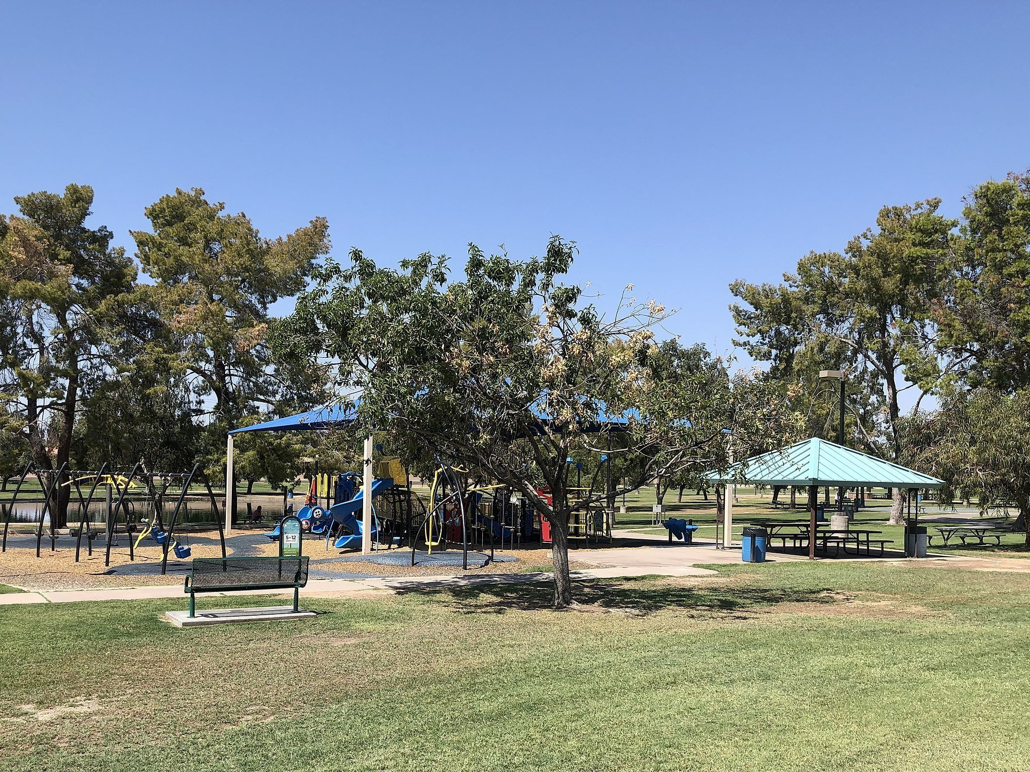Scottsdale outdoor activities at wheelchair-accessible playground at Chaparral Park