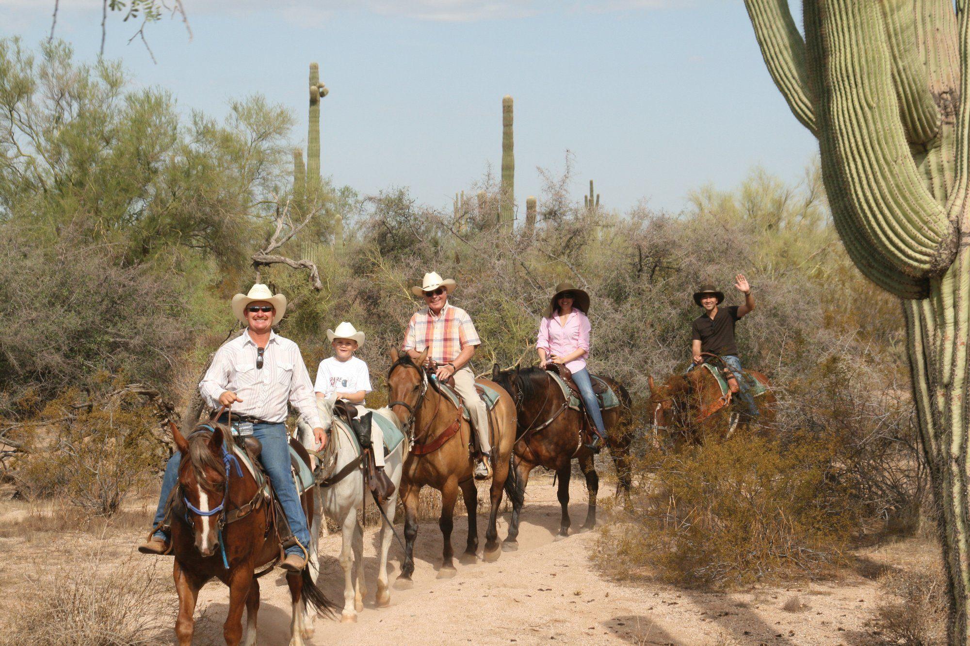 Horseback trail ride at MacDonald's Ranch