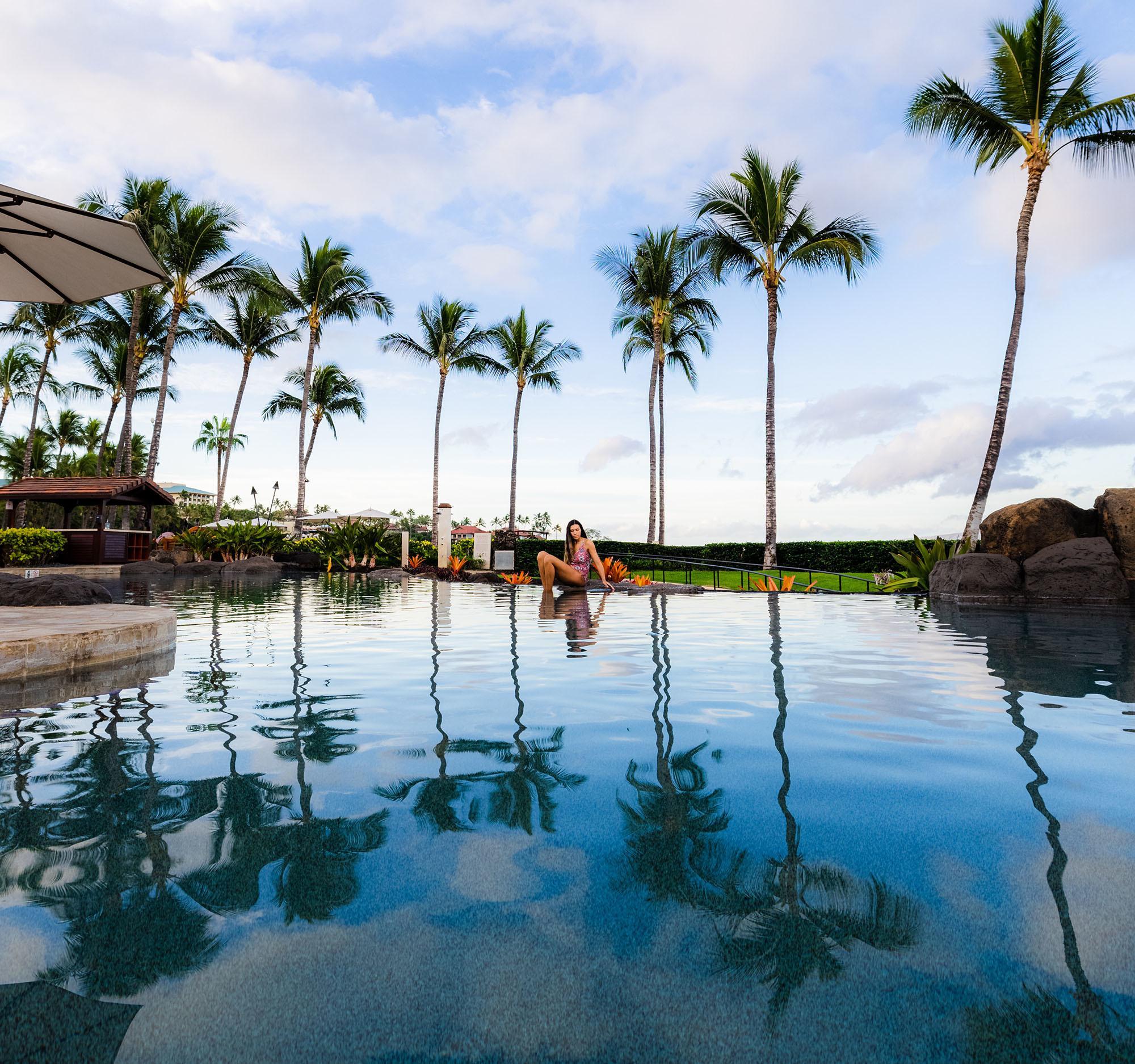 The infinity pool at Wailea Beach Villas in Maui, Hawaii