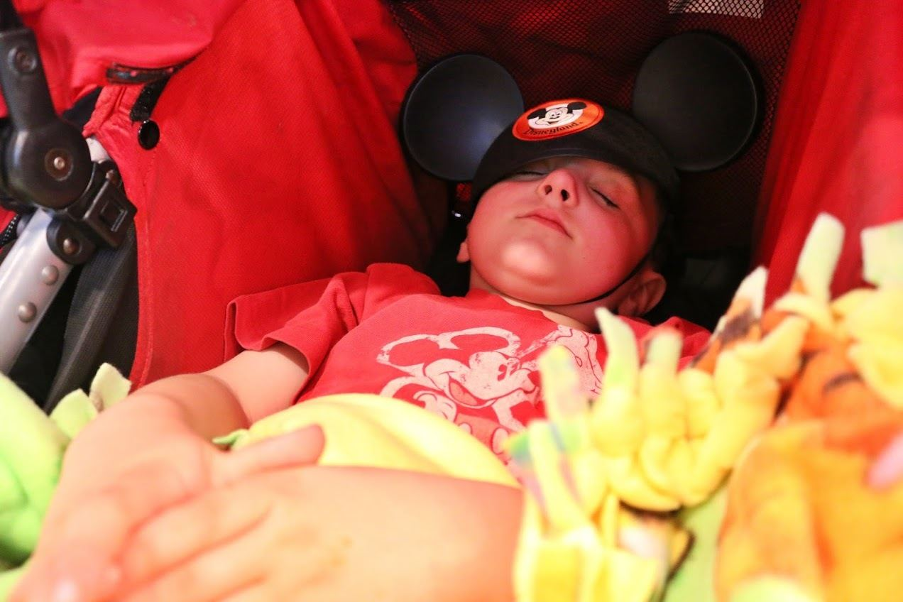 Strollers make naps a cinch at Disneyland with kids
