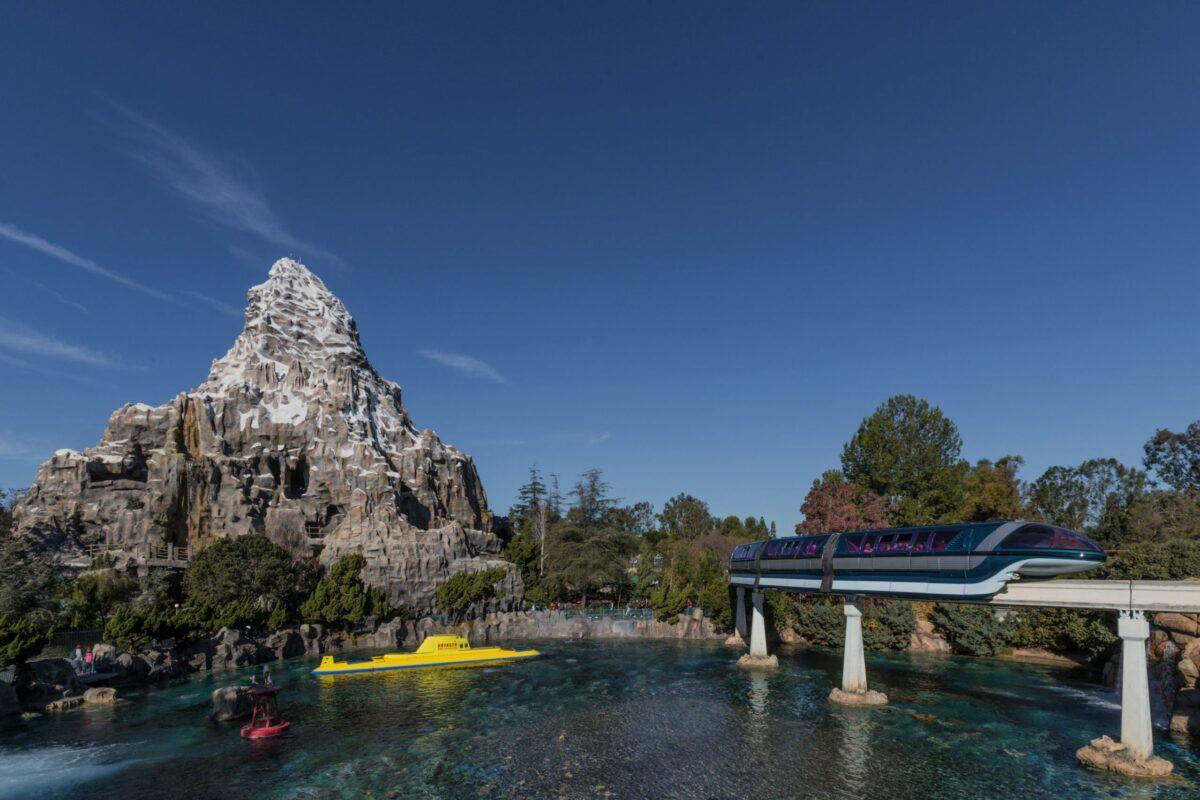 Matterhorn Bobsleds and Finding Nemo Submarine Voyage at Disneyland theme park