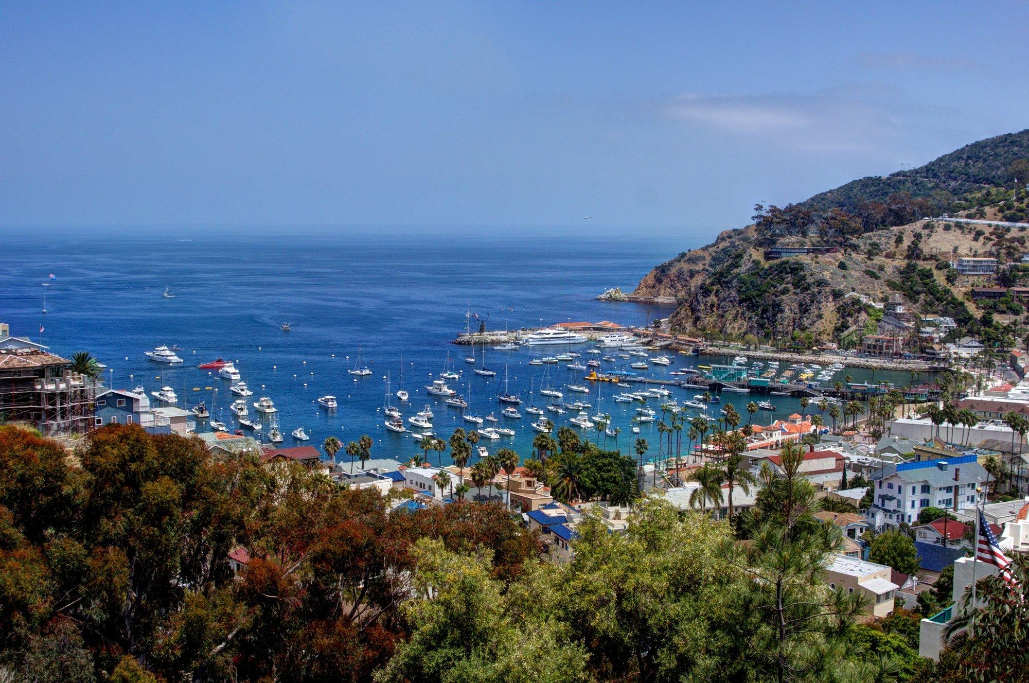 Avalon Harbor on Catalina Island
