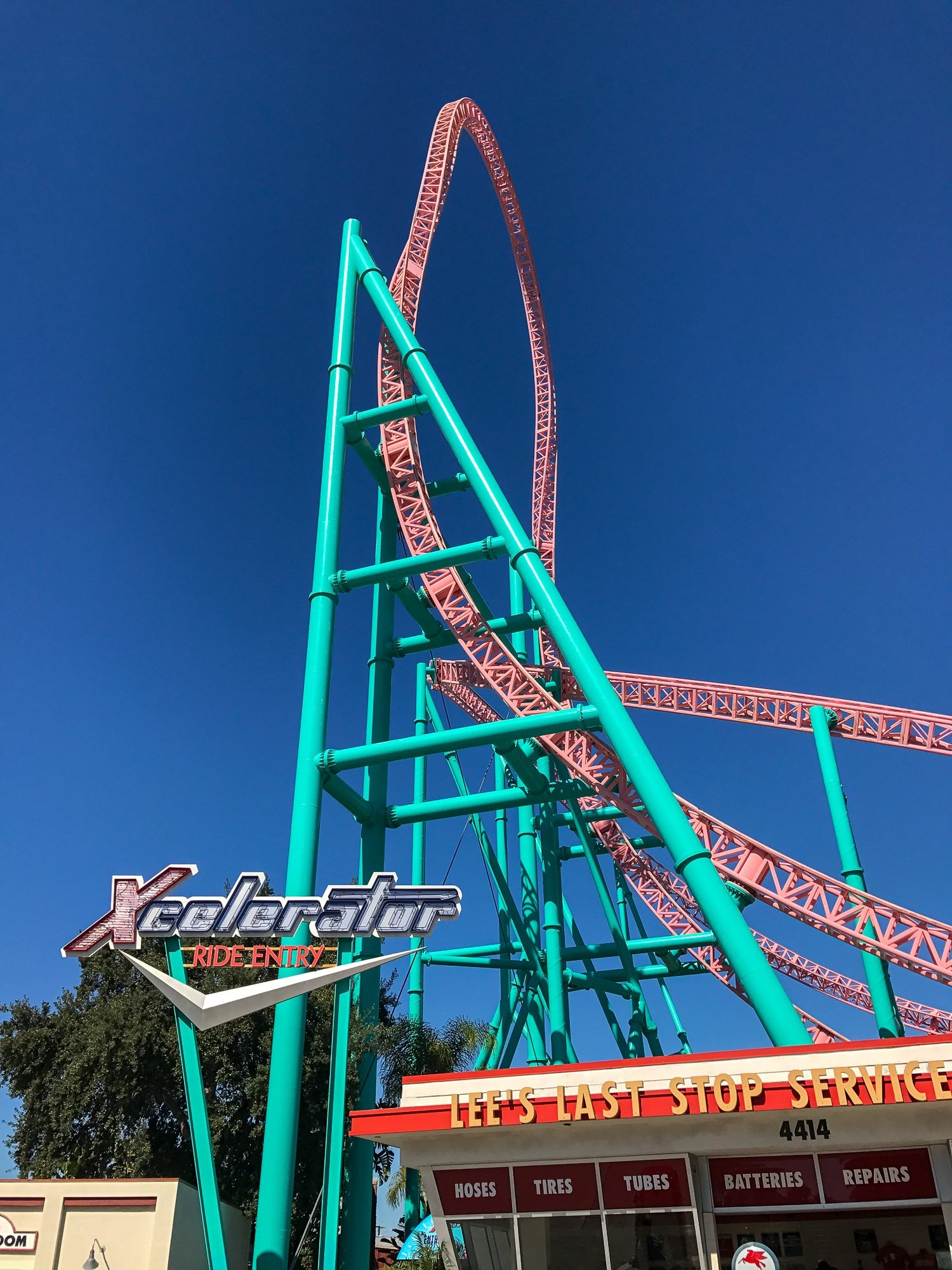 Xcelerator, one of the fastest rides at Knott's Berry Farm